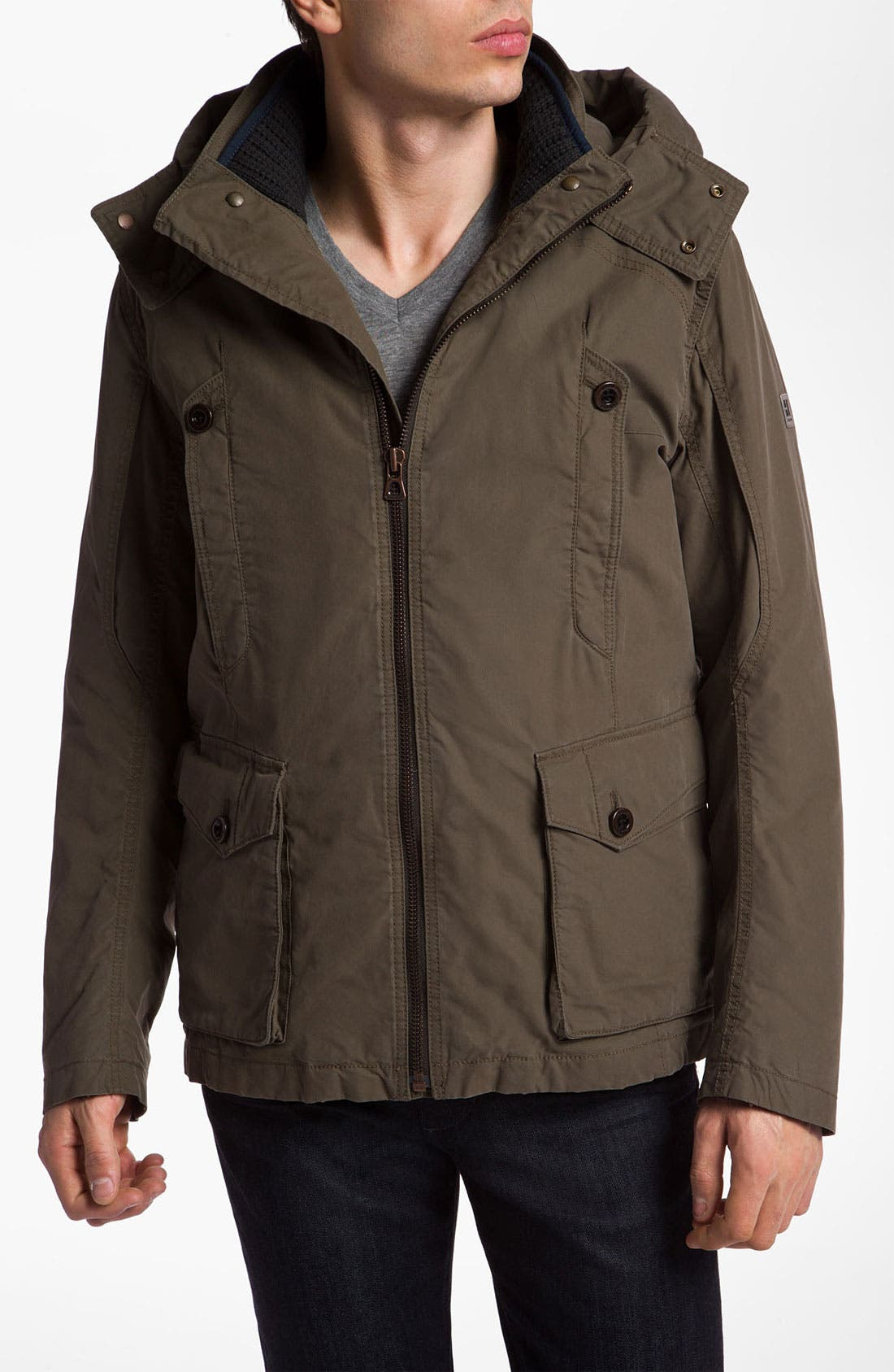 Alternate Image 1 Selected - BOSS Orange 'Ovras' Cotton Blend Jacket