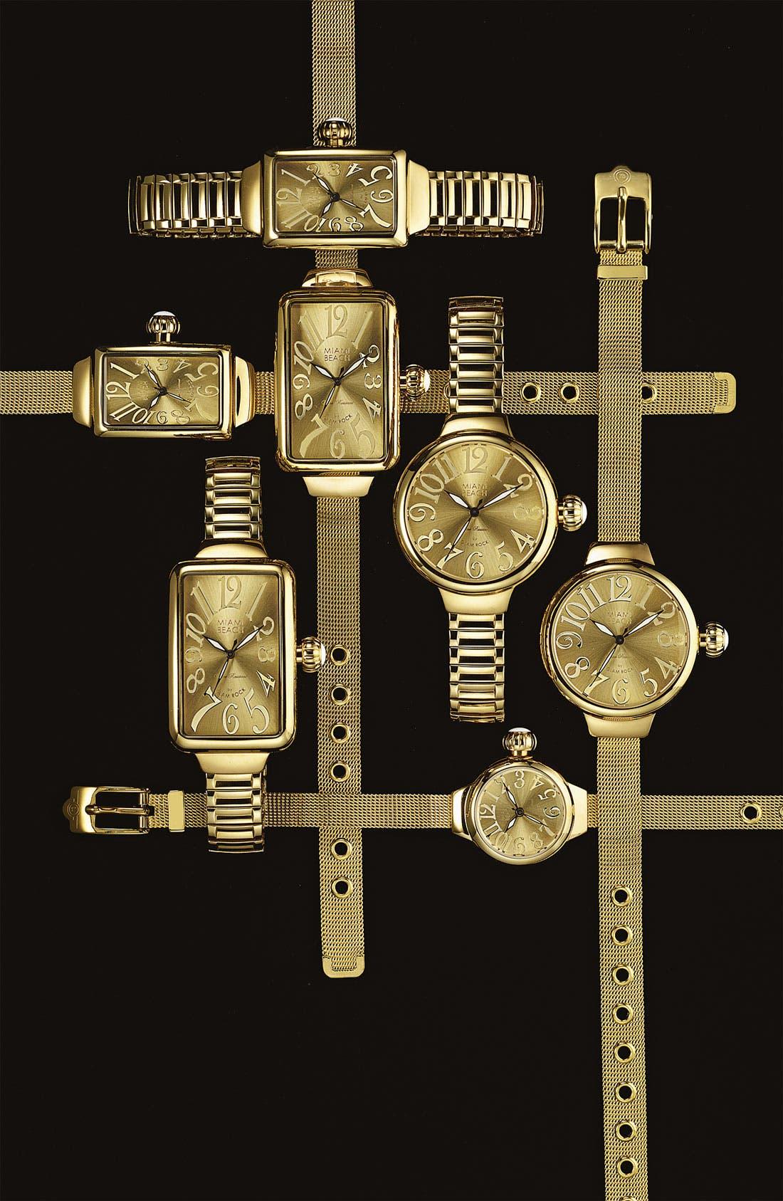 Alternate Image 2  - Miami Beach by Glam Rock Rectangular Expansion Bracelet Watch