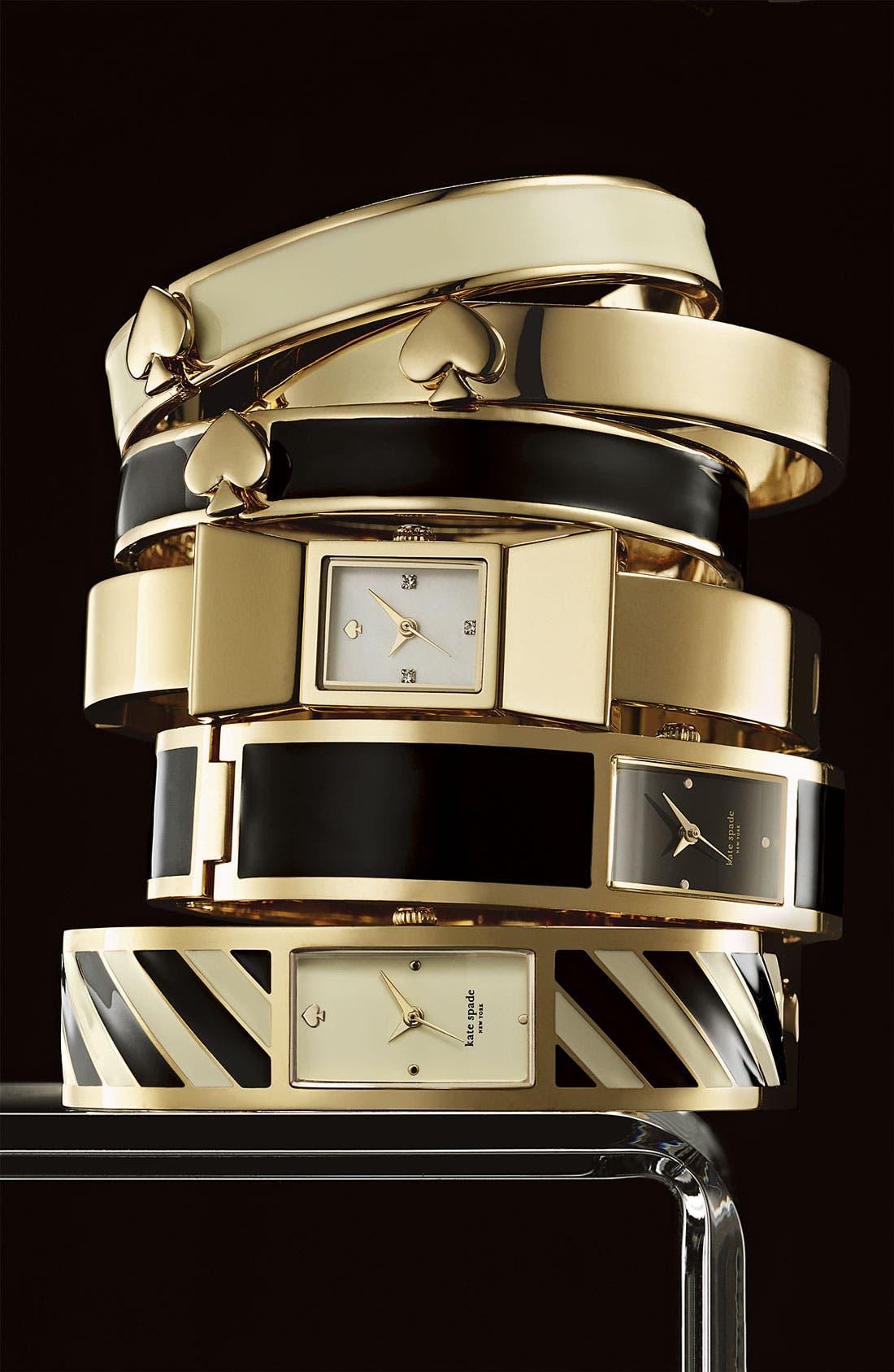 Alternate Image 2  - kate spade new york 'carousel' stripe bangle watch