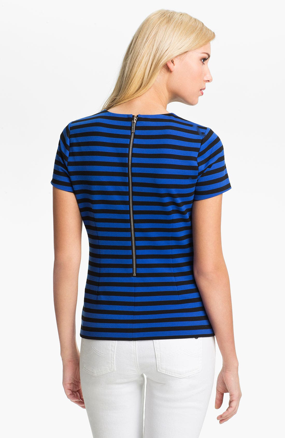 Alternate Image 2  - MICHAEL Michael Kors Short Sleeve Stripe Top