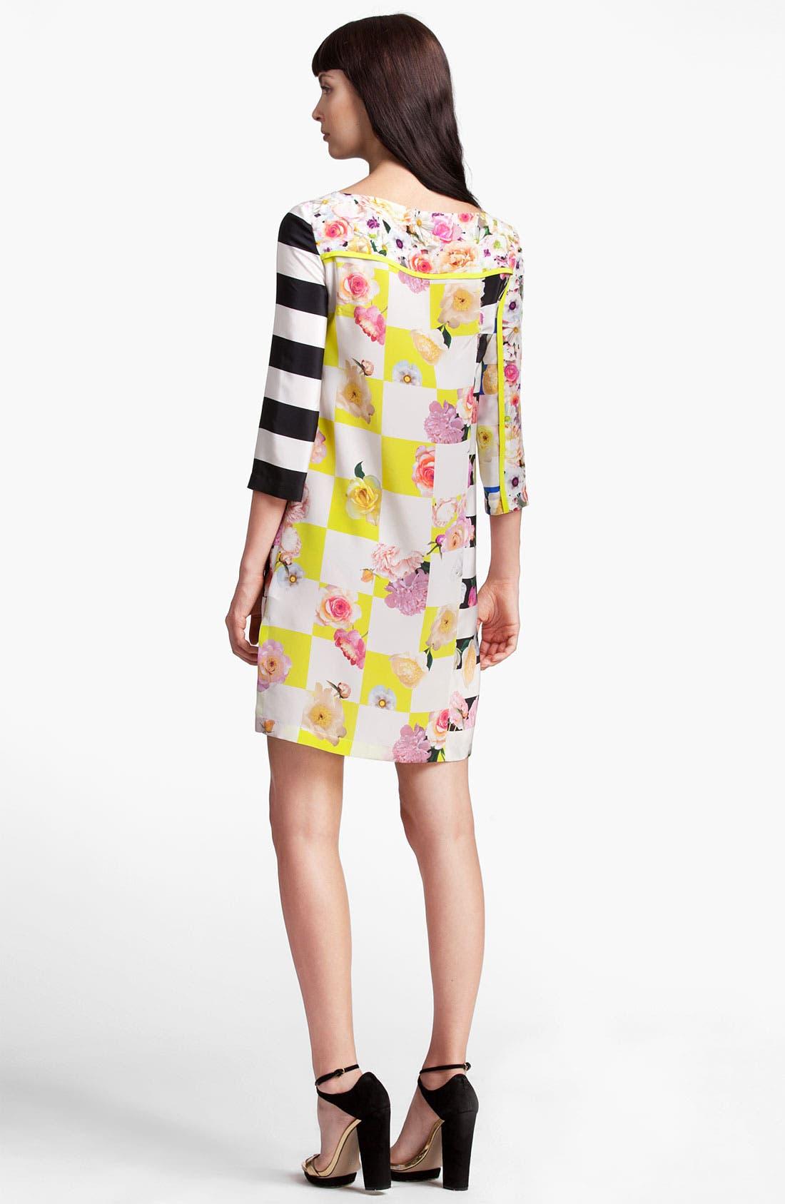 Alternate Image 2  - MSGM Mixed Print Silk Dress