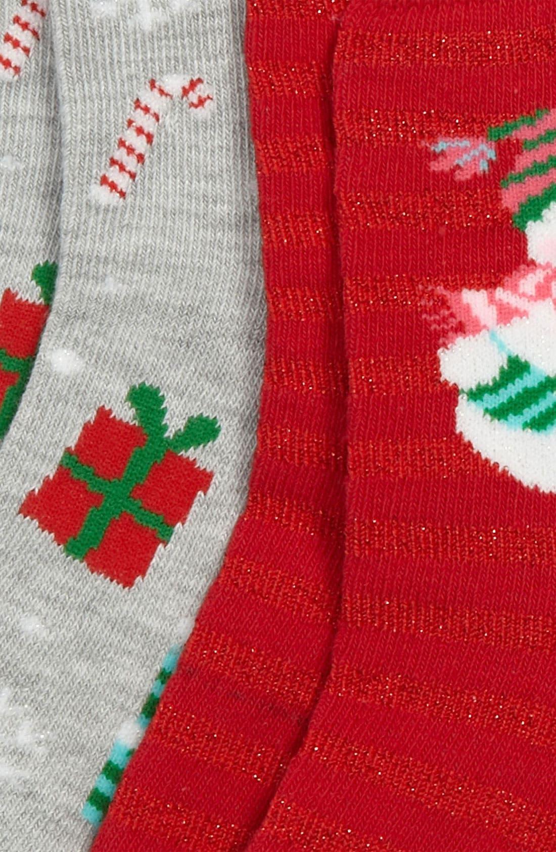 Alternate Image 2  - Nordstrom 'Snowman' Socks (2-Pack) (Walker, Toddler, Little Kid & Big Kid)