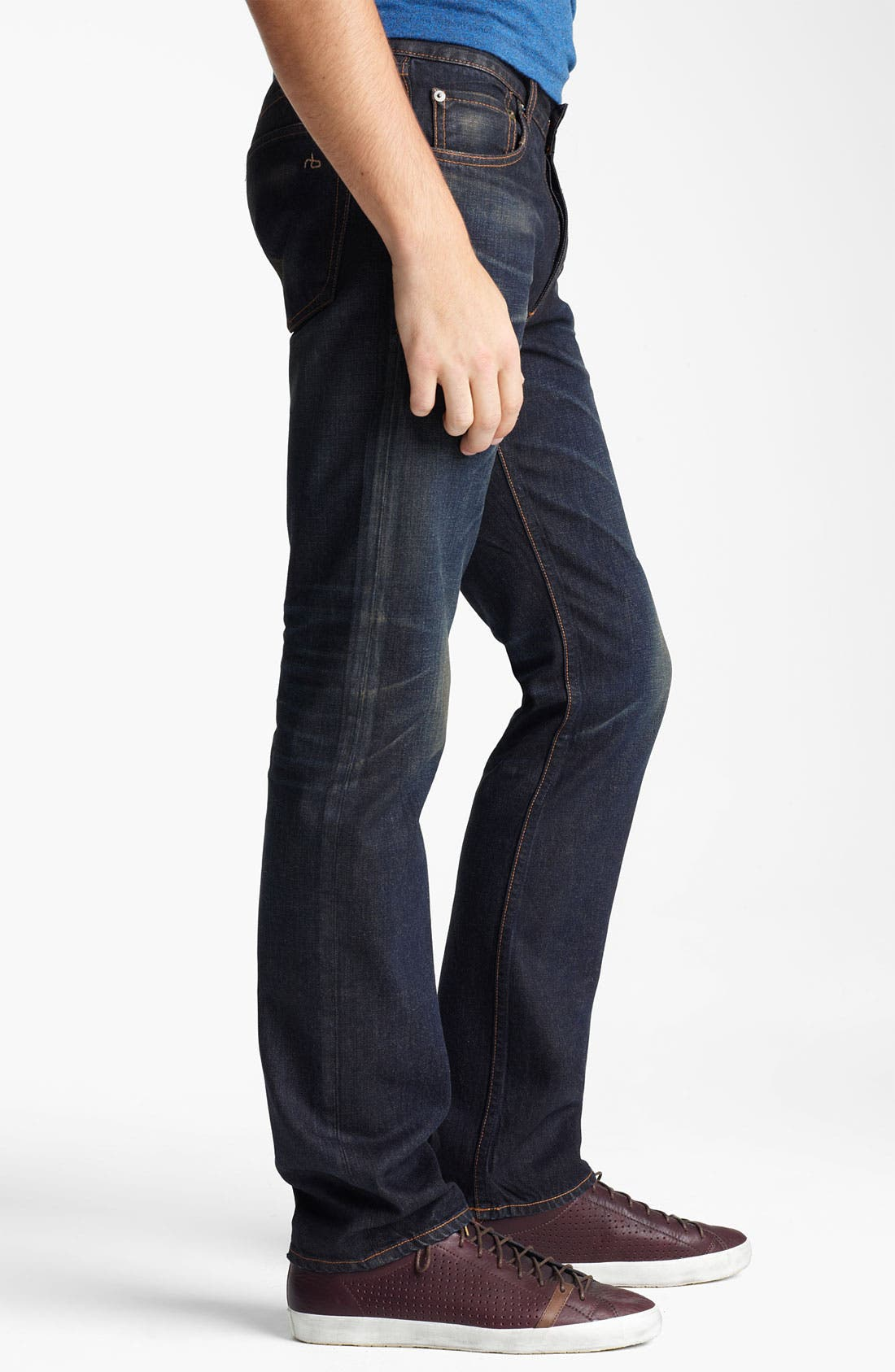 Alternate Image 3  - rag & bone 'RB19X' Slim Straight Leg Jeans (Charing Blue)