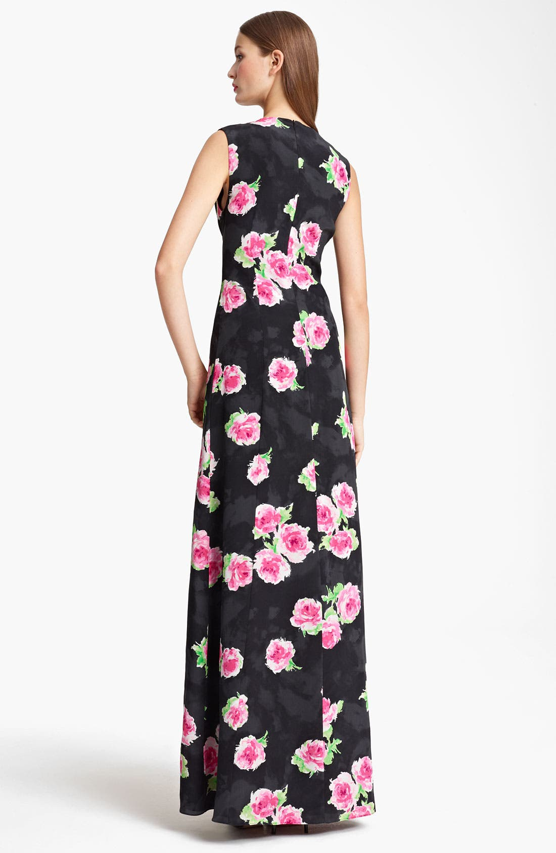 Alternate Image 2  - Moschino Cheap & Chic Rose Print Crêpe de Chine Gown