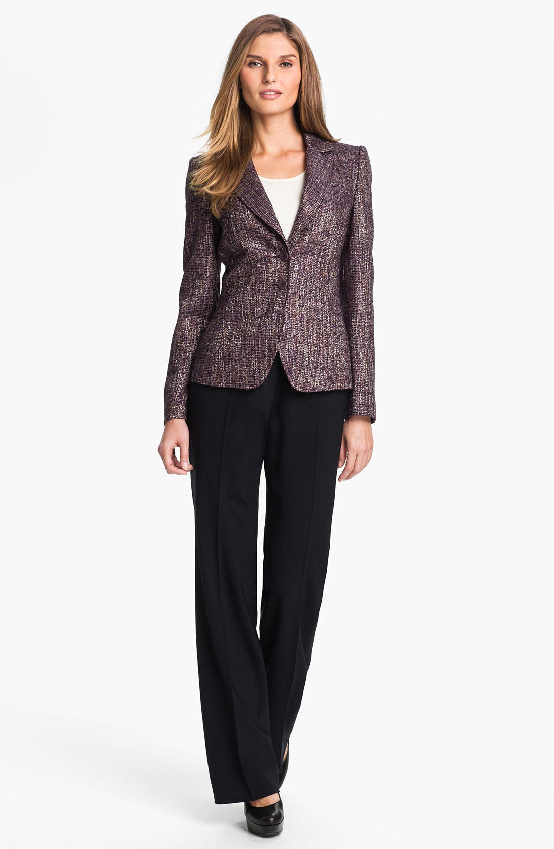 Alternate Image 3  - Santorelli 'Gina' Straight Leg Wool Trousers