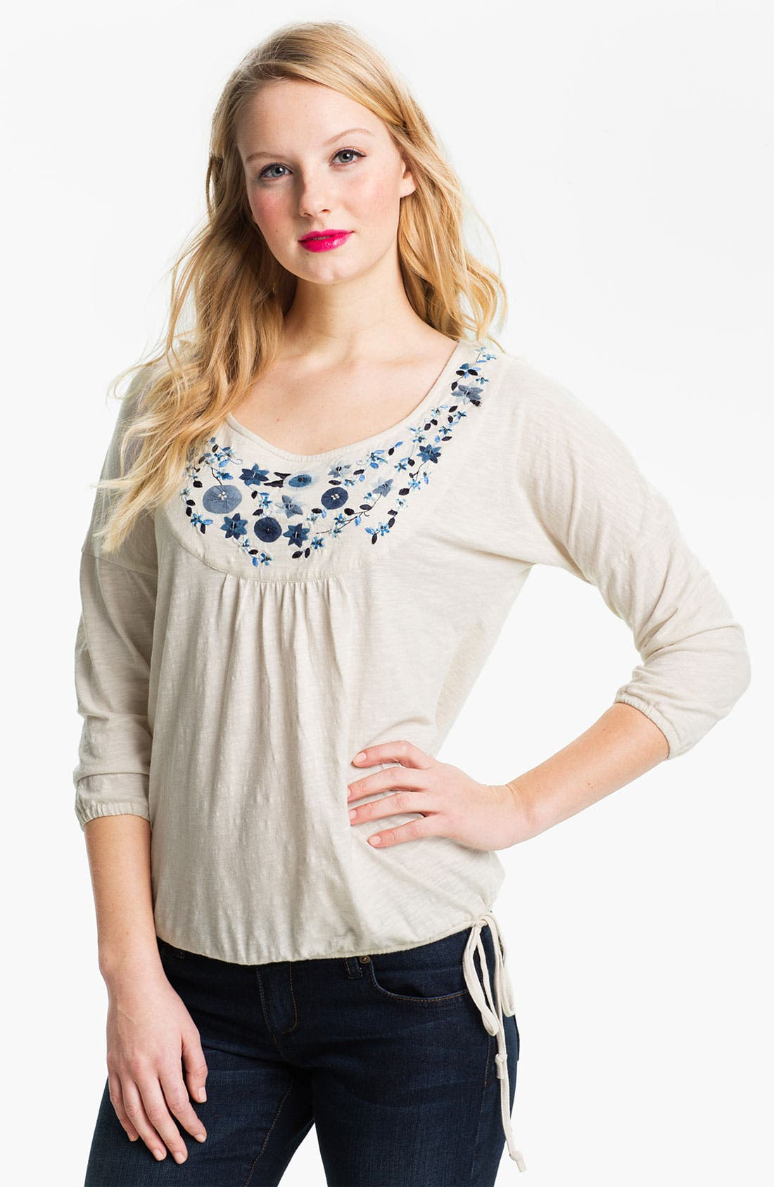 Alternate Image 1 Selected - Lucky Brand 'Grace' Embellished Top
