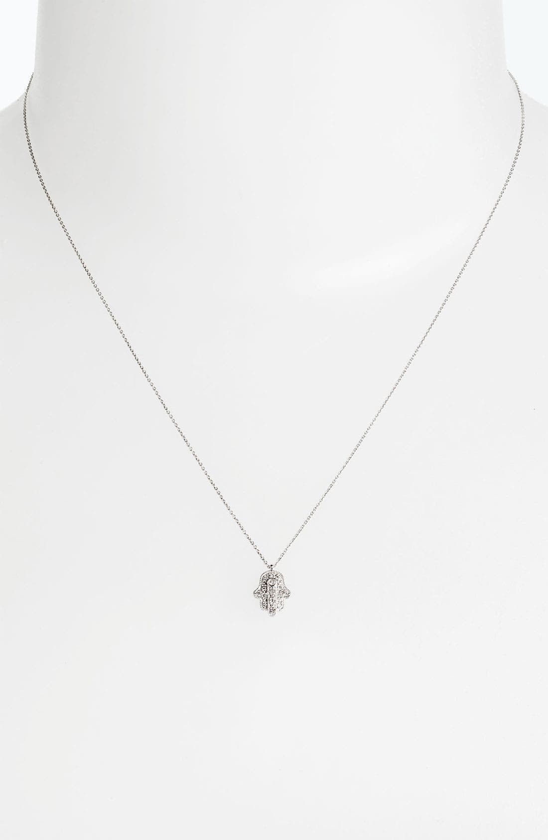 Alternate Image 2  - Whitney Stern Hamsa Pendant Necklace