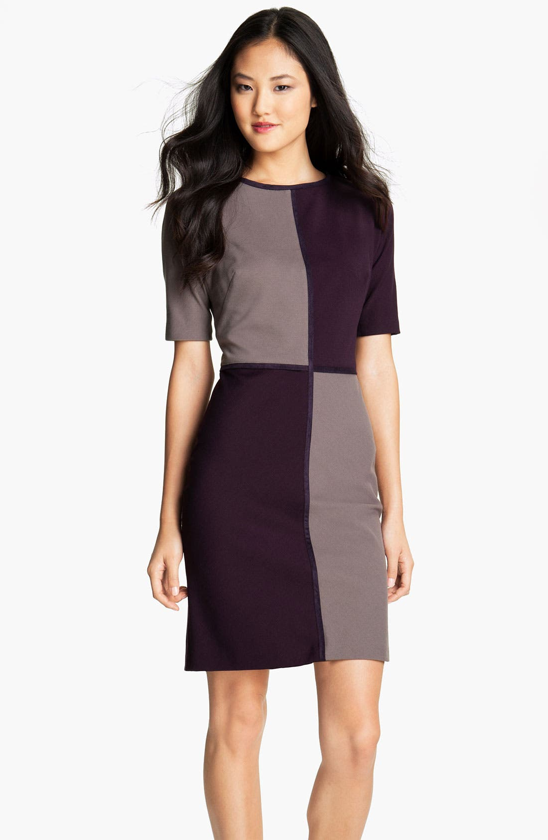 Main Image - Suzi Chin for Maggy Boutique Colorblock Sheath Dress (Petite)