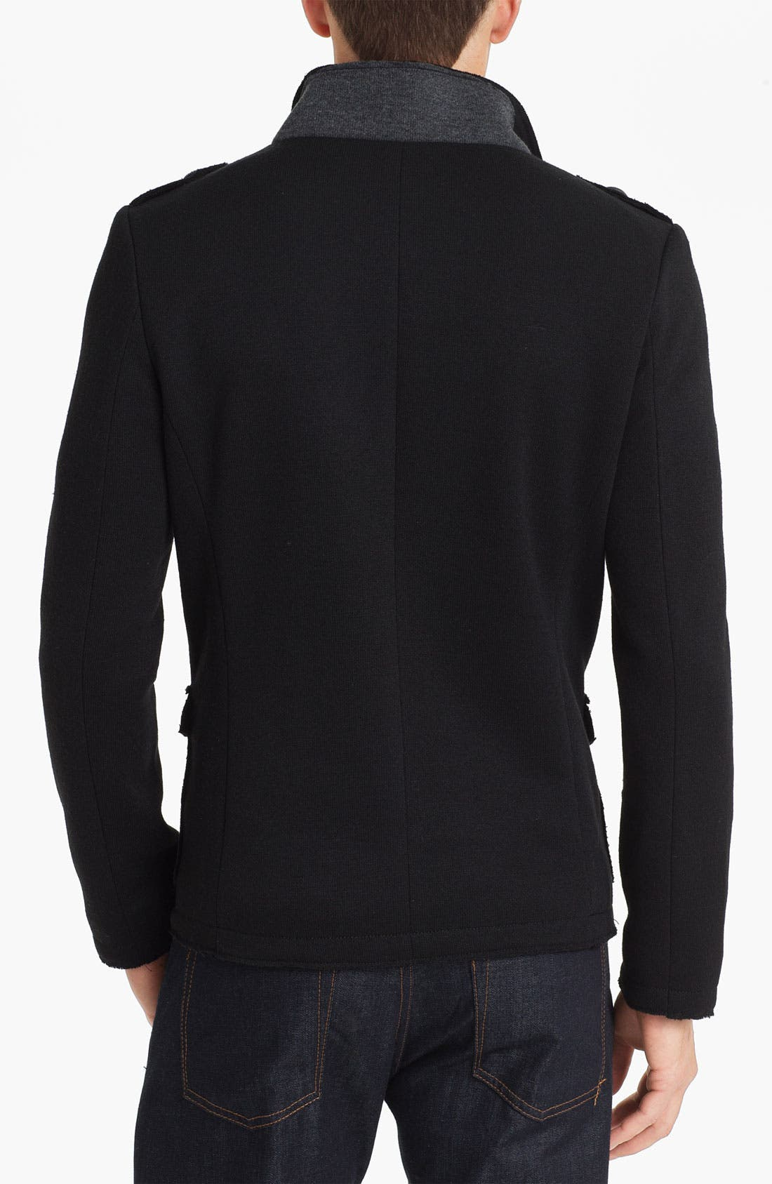 Alternate Image 2  - Paul Black Knit Field Jacket