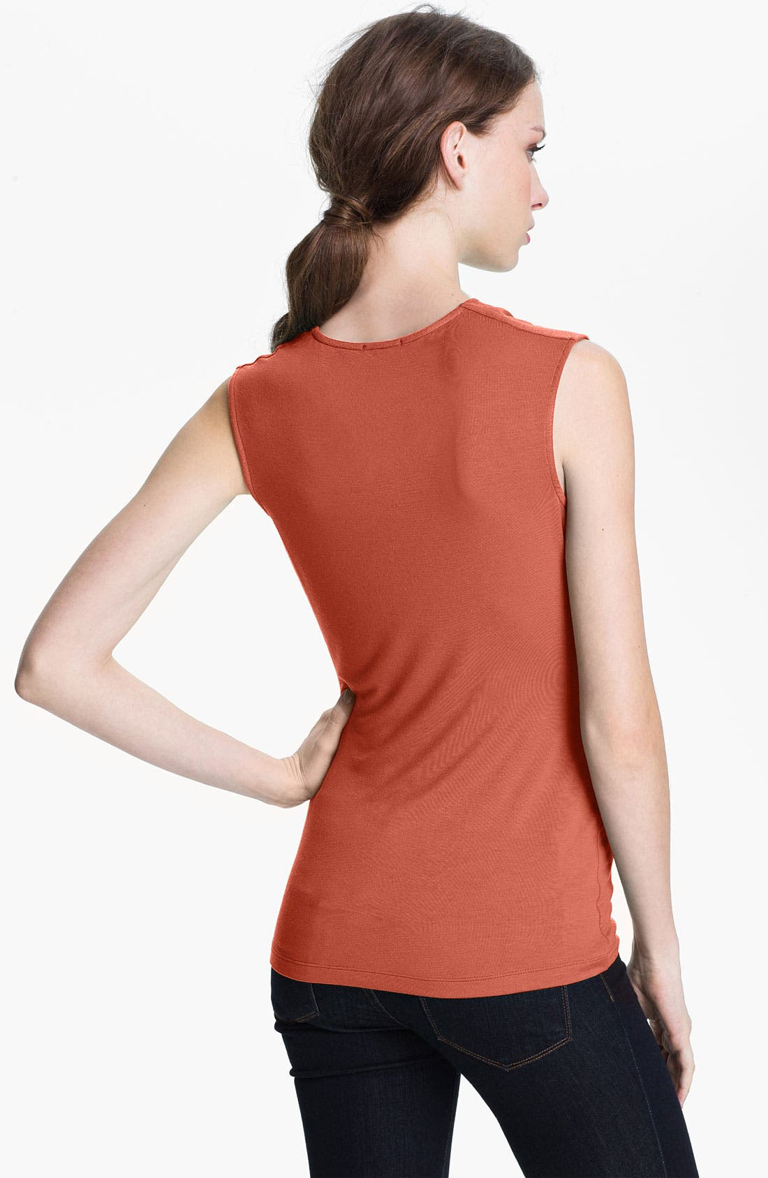 Alternate Image 2  - Halogen® Draped Stretch Modal Top (Regular & Petite)