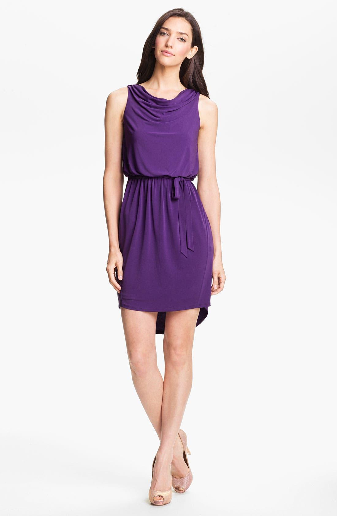 Main Image - Jessica Simpson Cowl Neck High/Low Blouson Dress