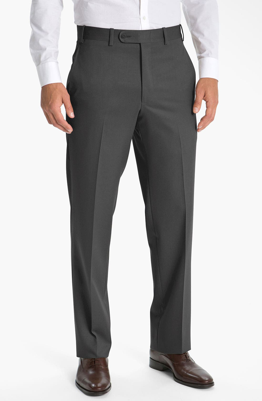 Alternate Image 1 Selected - JB Britches Pre-Hemmed Flat Front Trousers