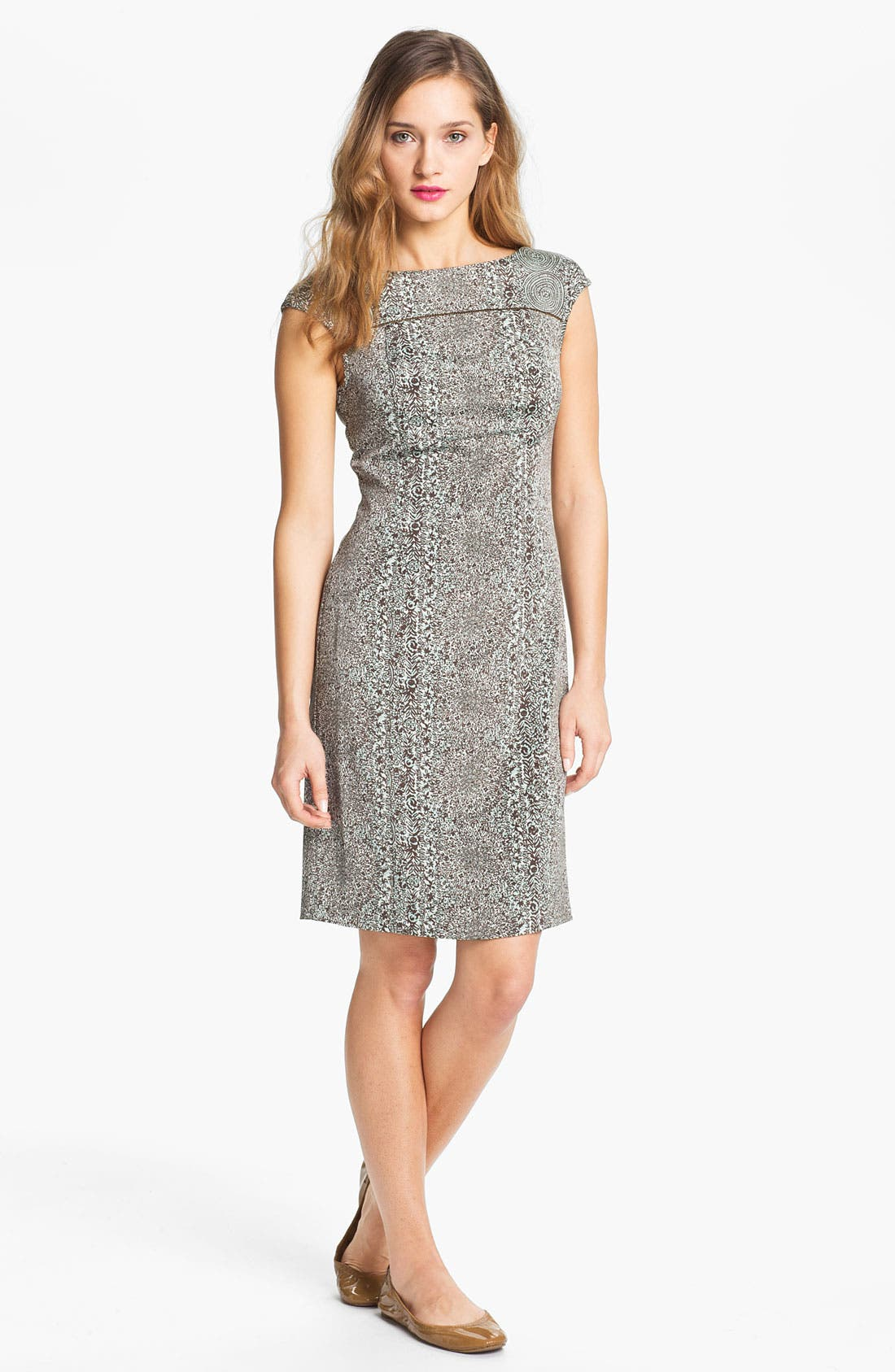 Alternate Image 1 Selected - Tory Burch 'Carter' Print Sheath Dress