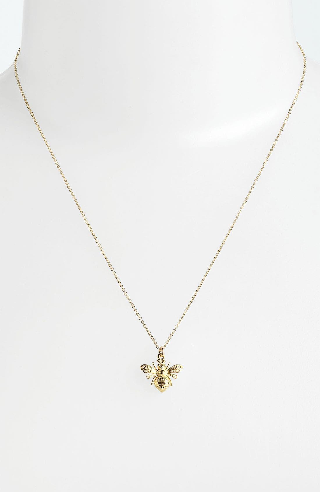 Alternate Image 2  - Dogeared 'Create - Bee Mine' Pendant Necklace
