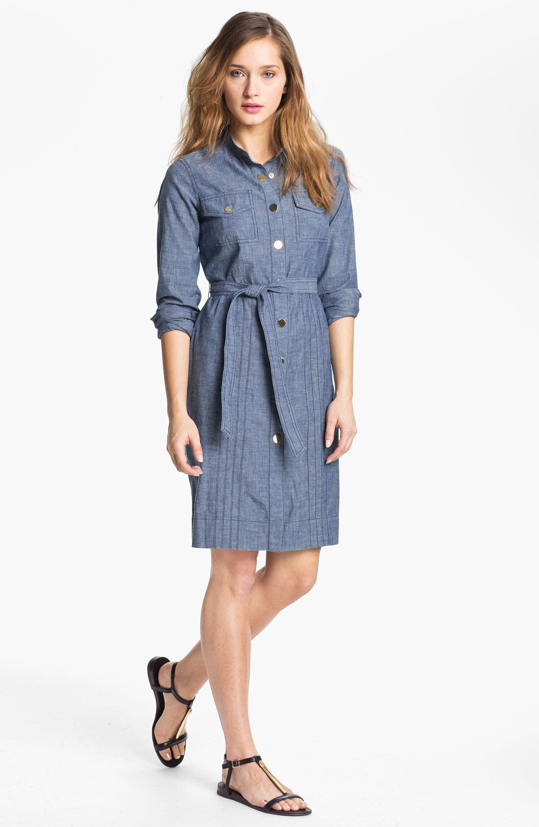 Alternate Image 1 Selected - Tory Burch 'Cora' Cotton Shirtdress