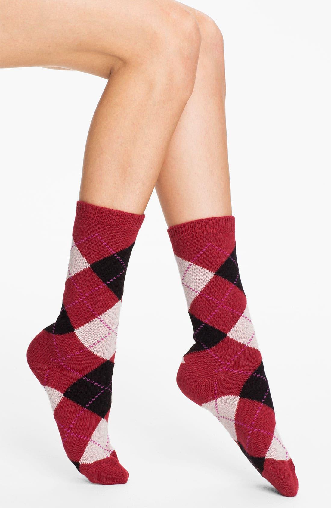 Main Image - Nordstrom Argyle Crew Socks