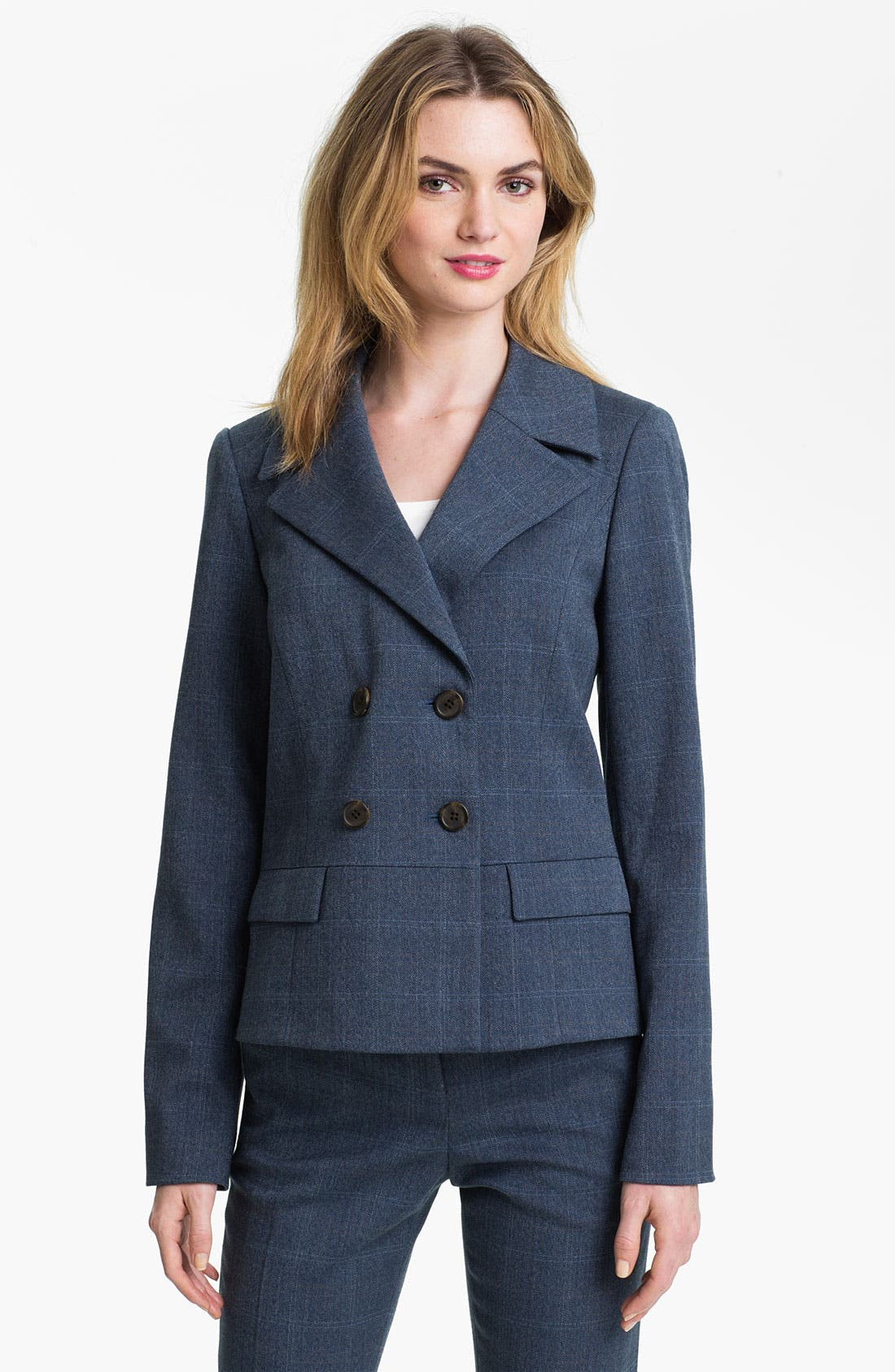 Alternate Image 1 Selected - Anne Klein Patterned Menswear Jacket