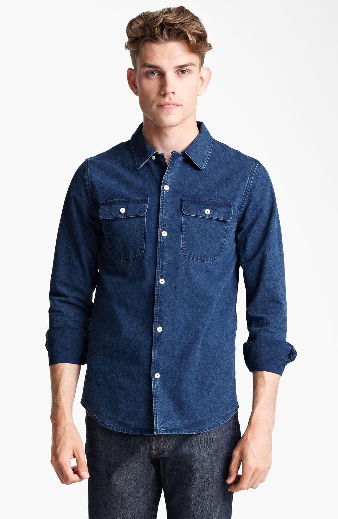 Alternate Image 1 Selected - A.P.C. Denim Shirt