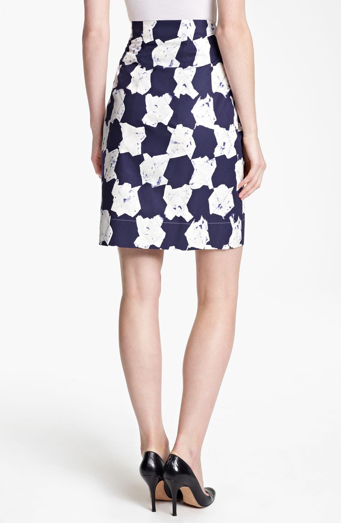 Alternate Image 2  - Jil Sander Print Cotton Taffeta Skirt