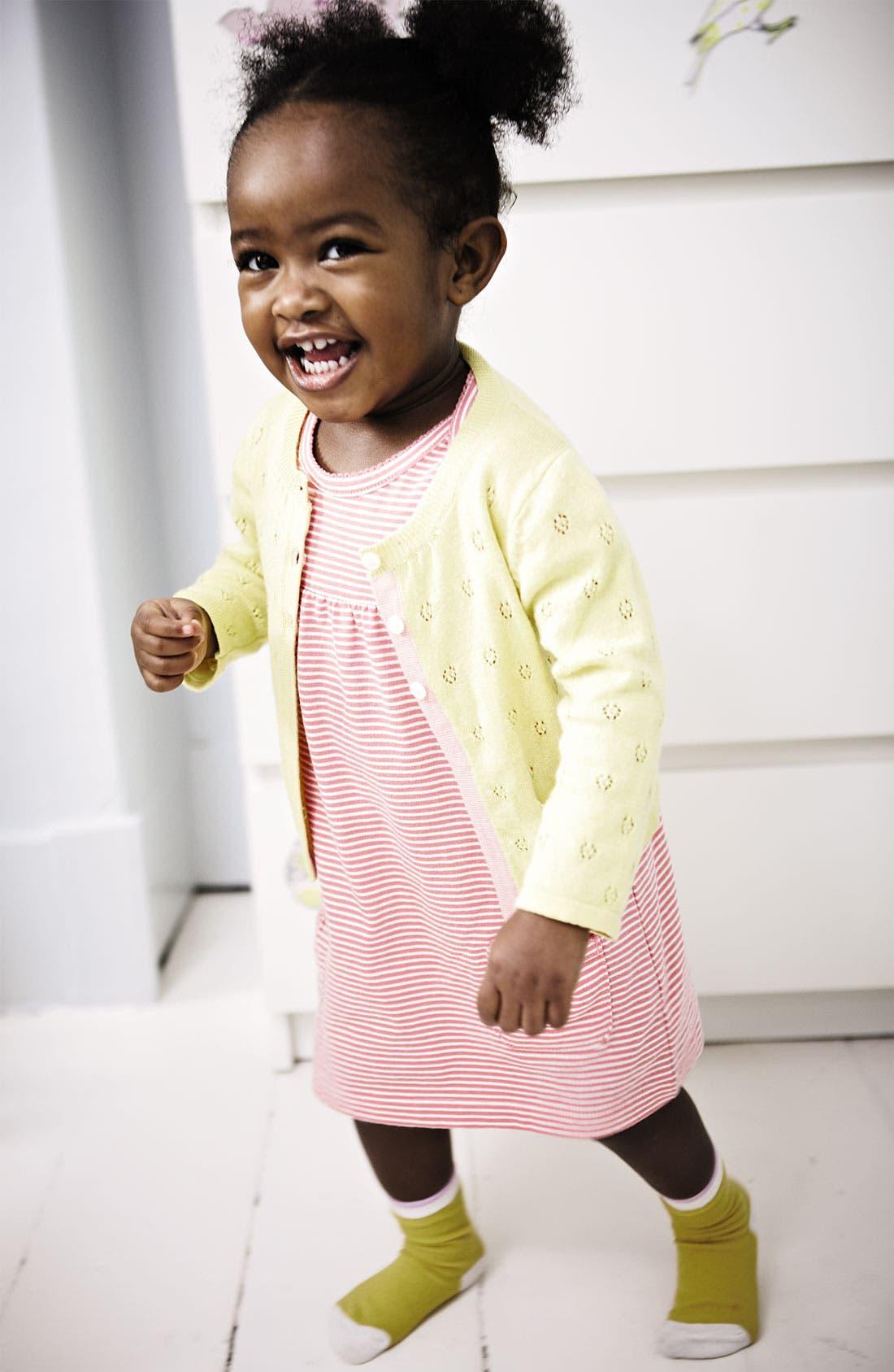 Alternate Image 2  - Mini Boden 'Simple' Jersey Dress & Bloomers (Infant)