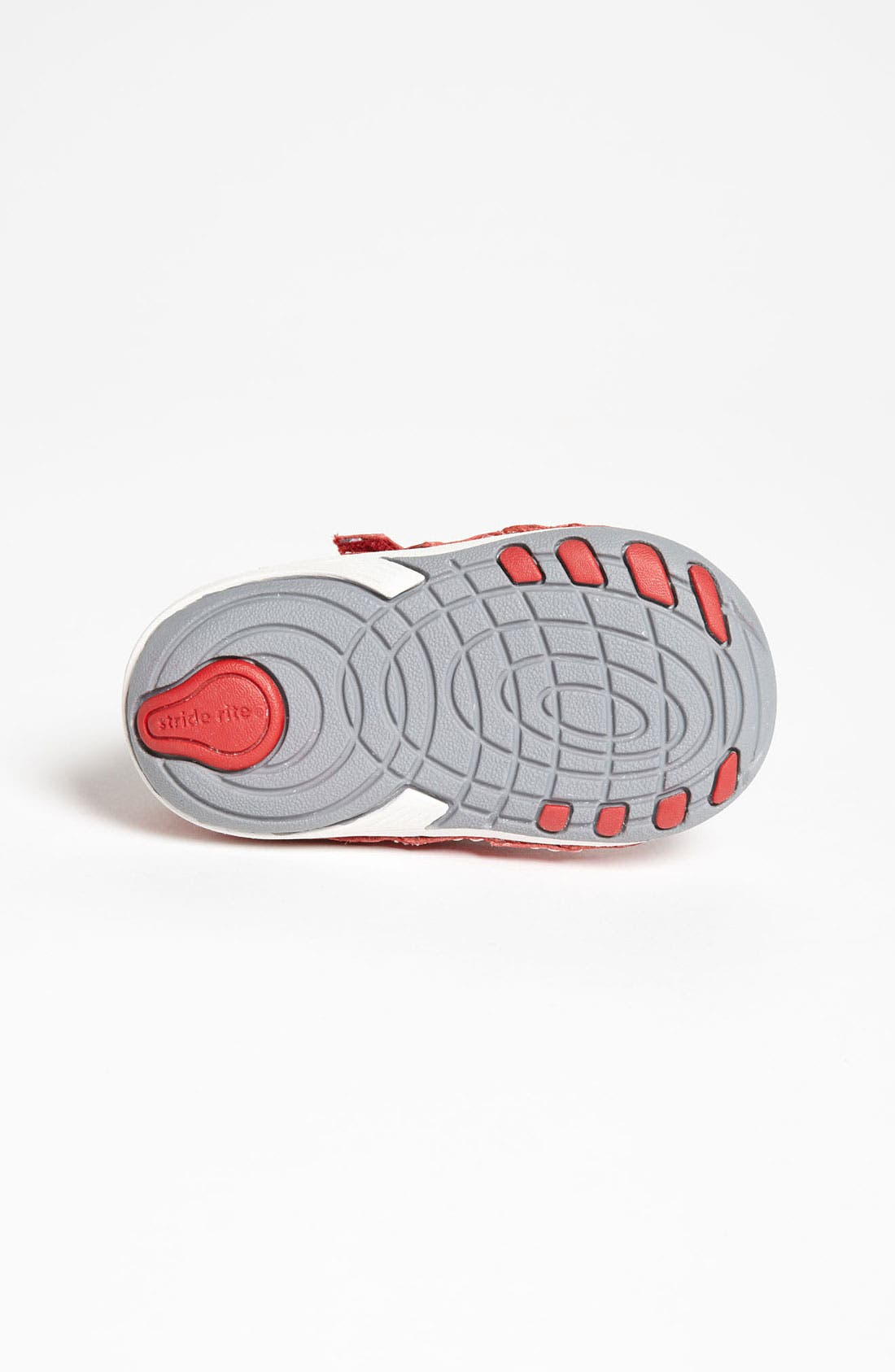 'Artie' Sneaker,                             Alternate thumbnail 4, color,                             Red/ Grey