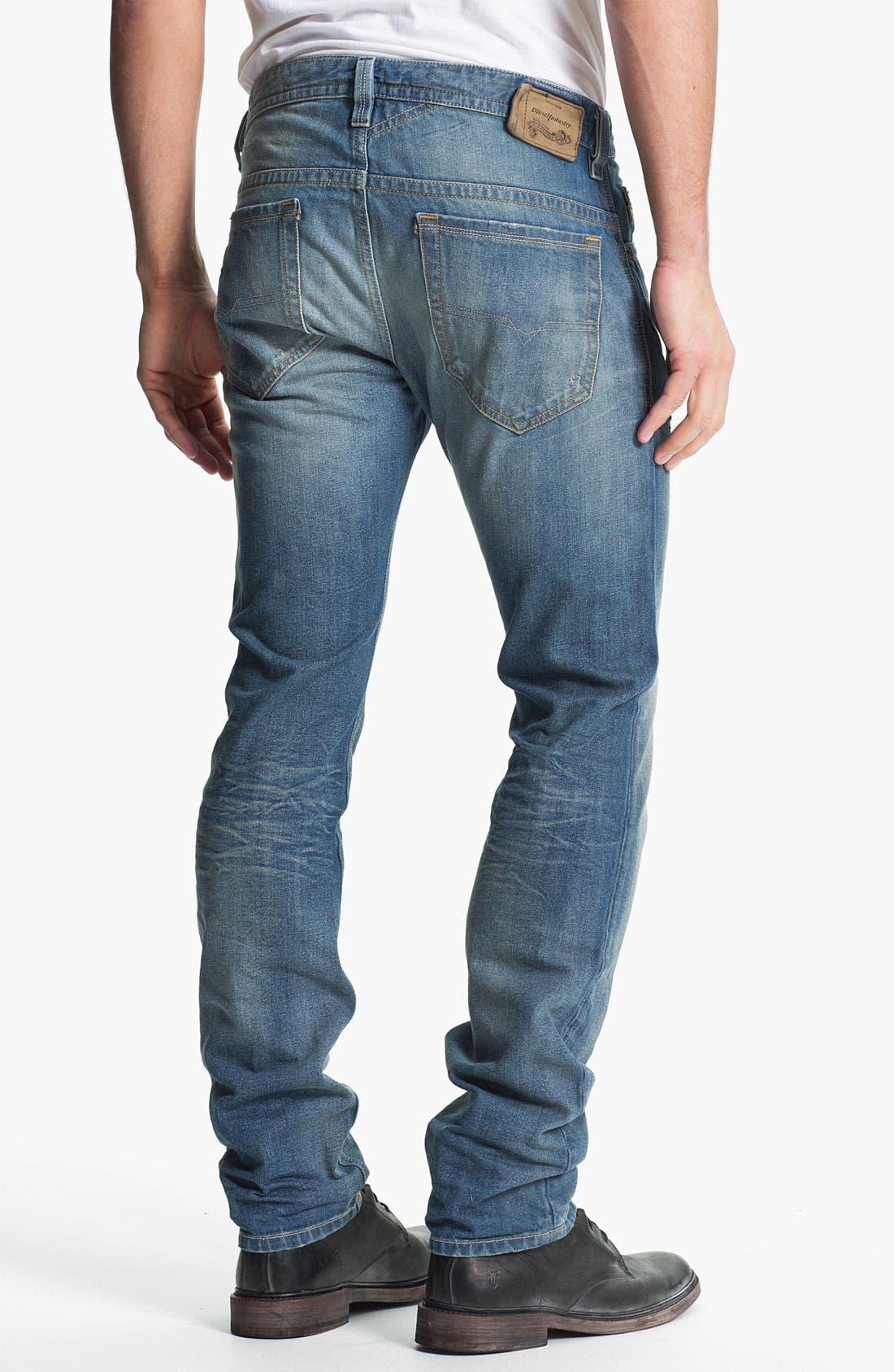 Alternate Image 1 Selected - DIESEL® 'Thavar' Slim Straight Leg Jeans (0806P)