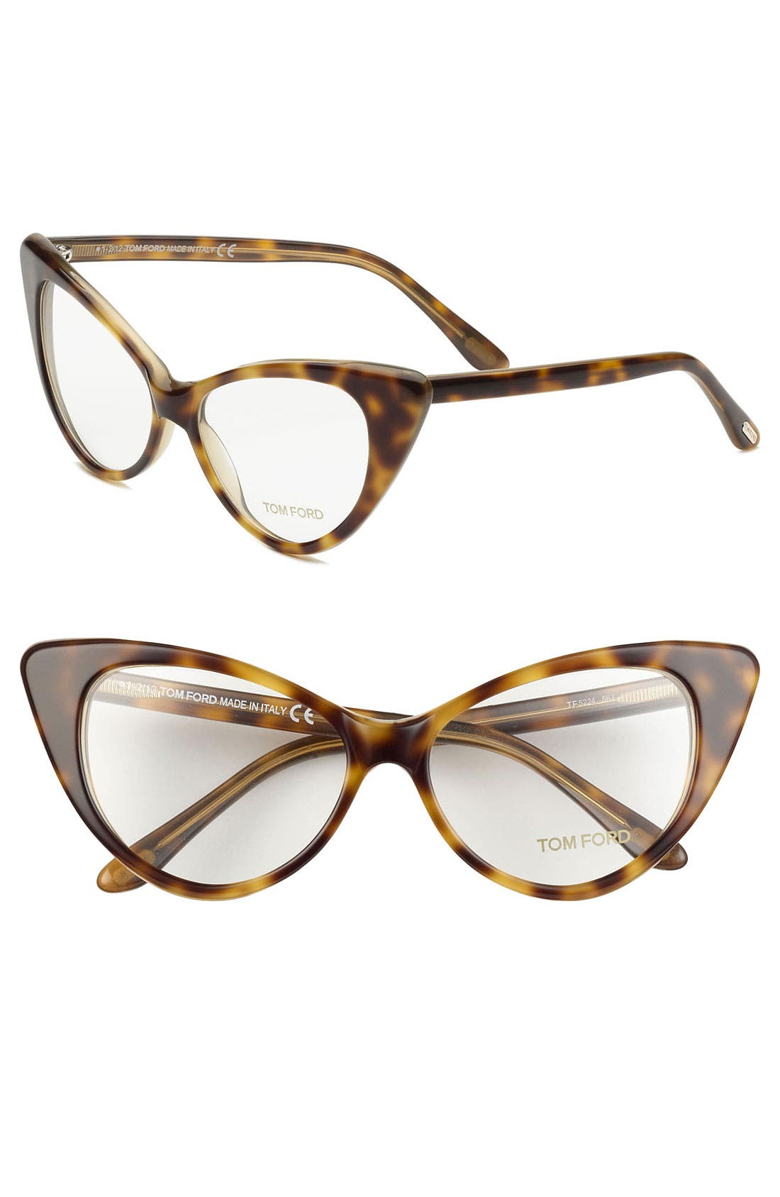 Alternate Image 1 Selected - Tom Ford Cat's Eye 55mm Optical Glasses (Online Only)