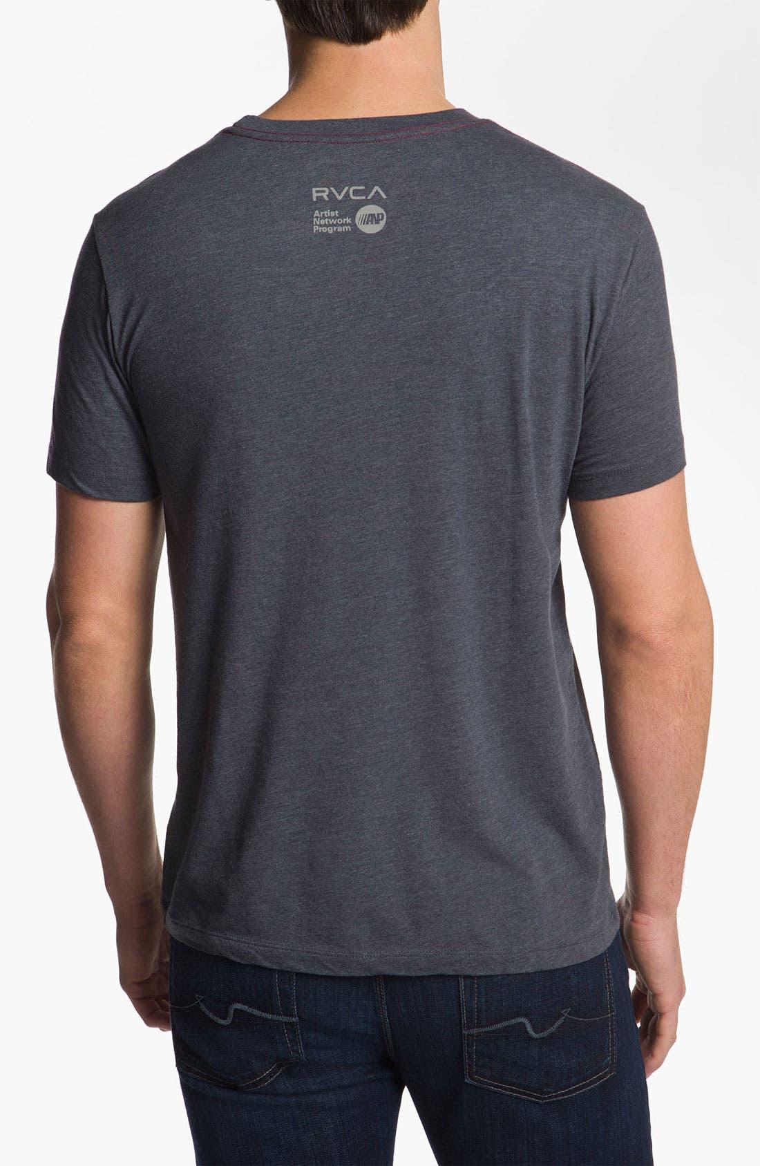 Alternate Image 2  - RVCA 'Deer Head' T-Shirt
