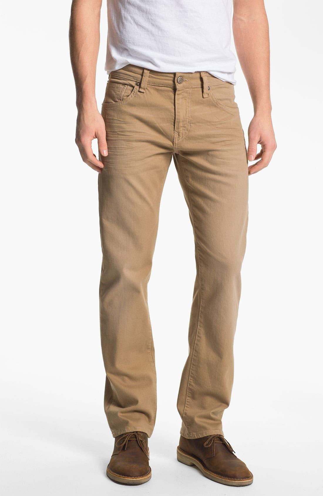 Alternate Image 2  - Mavi 'Zach' Straight Leg Jeans (Sand)