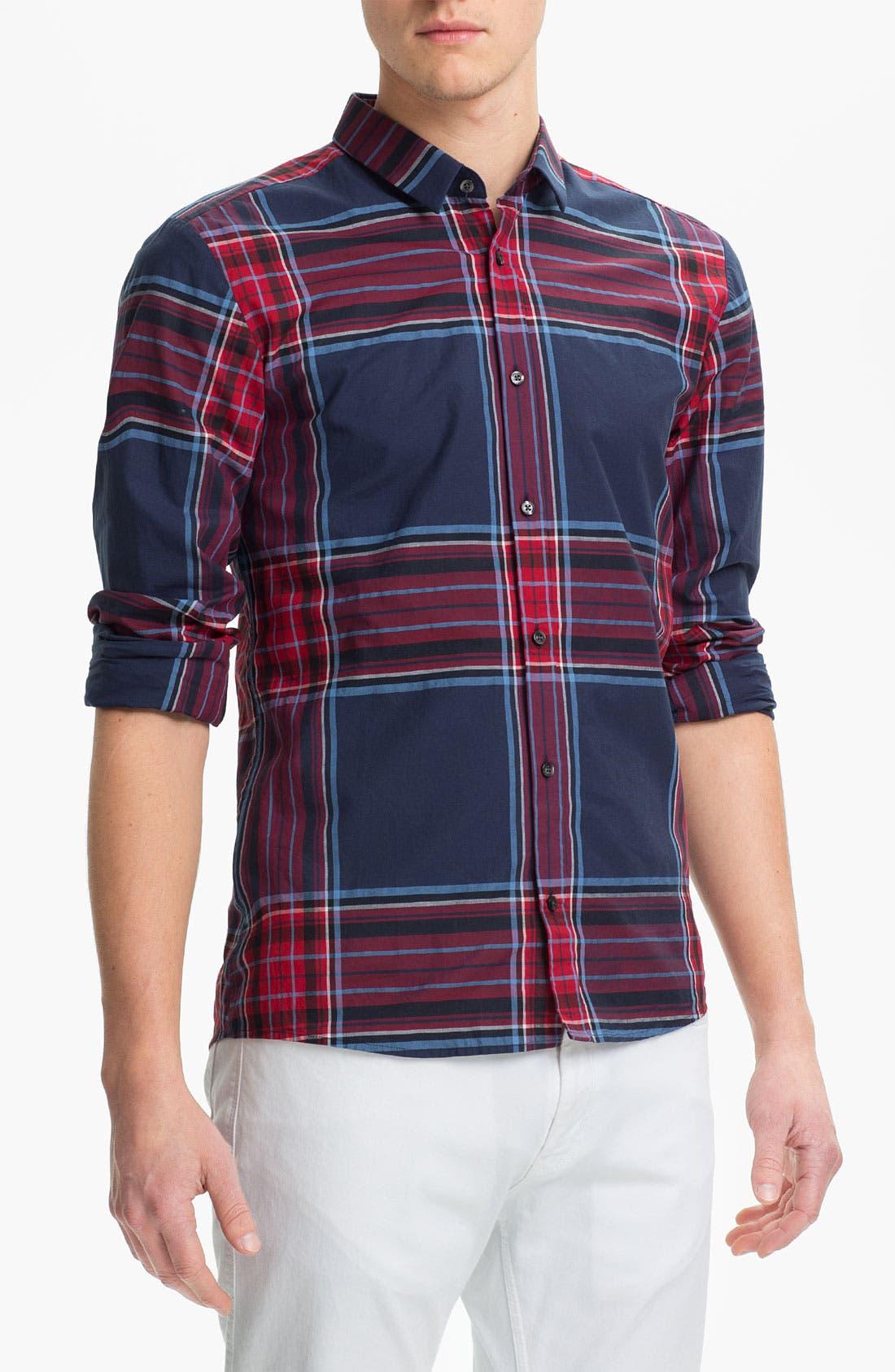 Main Image - HUGO  'Ero' Slim Fit Sport Shirt