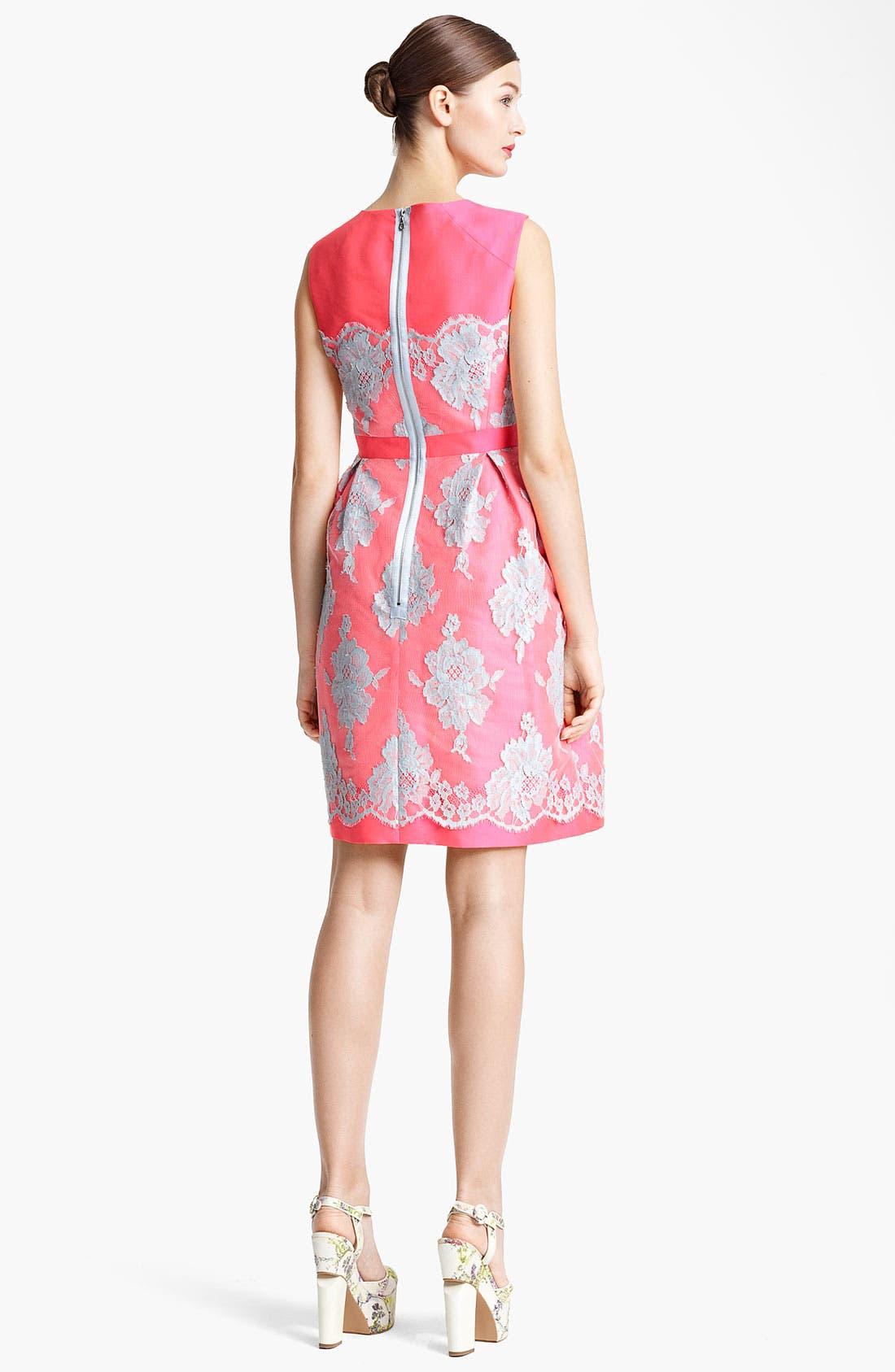 Alternate Image 2  - Erdem Full Skirt Mikado Silk & Lace Dress