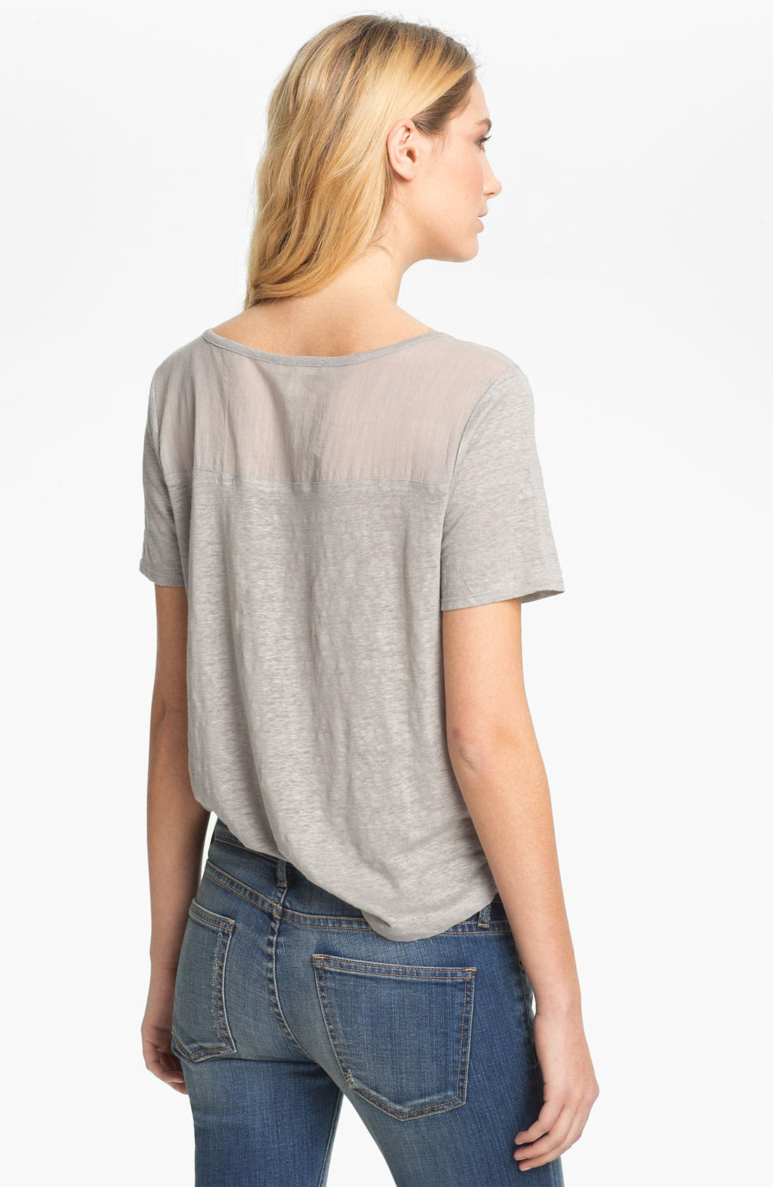 Alternate Image 2  - Soft Joie 'Rhett' Sheer Yoke Pocket Tee