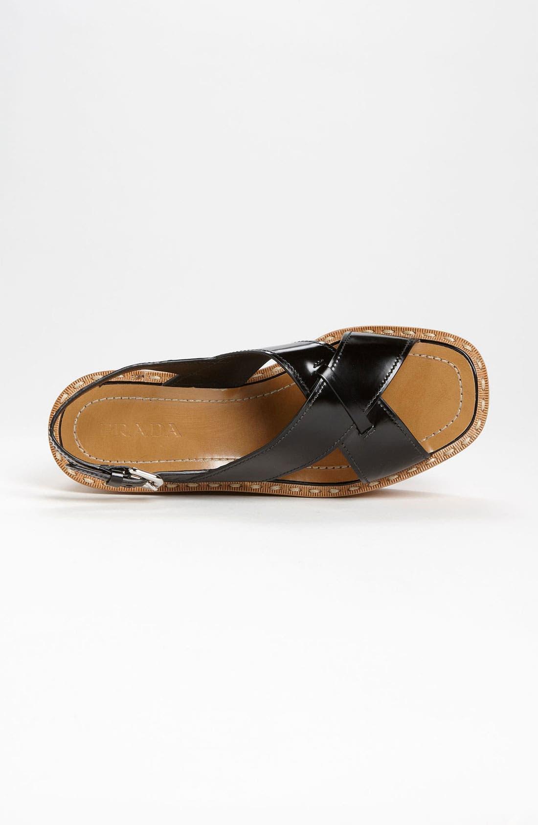 Alternate Image 3  - Prada 'Criss Cross' Wedge Sandal