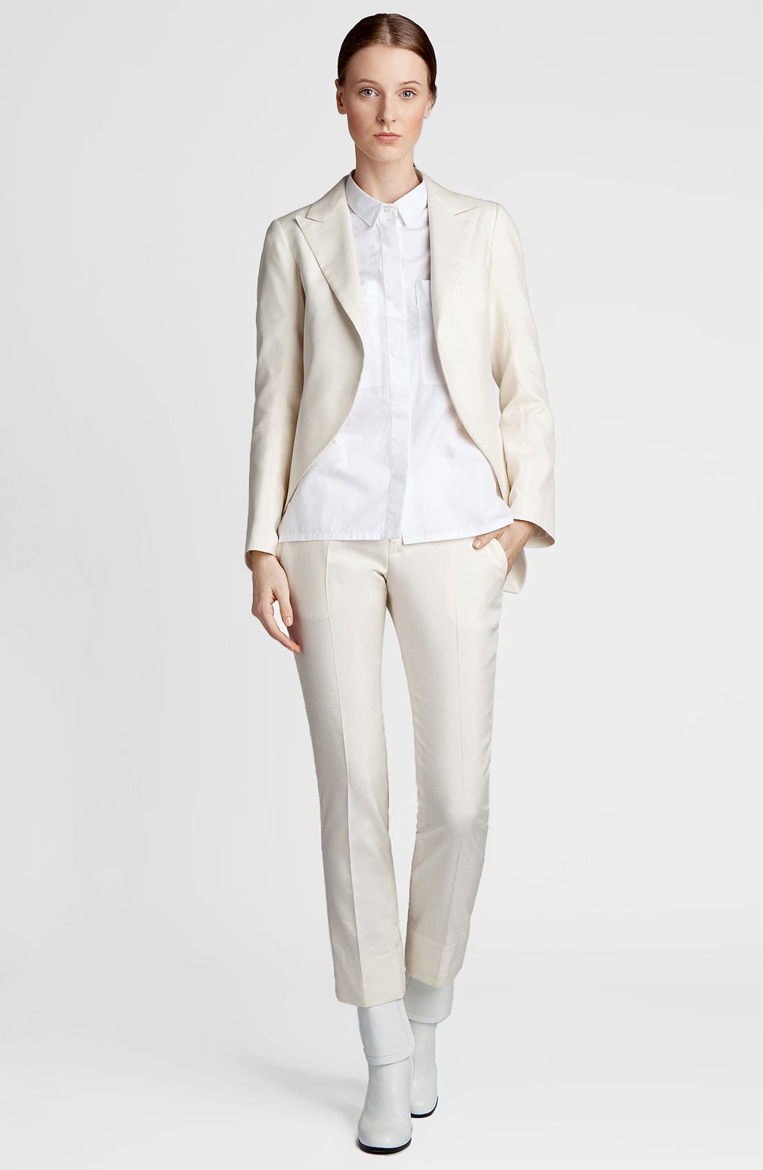 Alternate Image 3  - Jil Sander 'Niccolo' Slim Cotton & Silk Pants