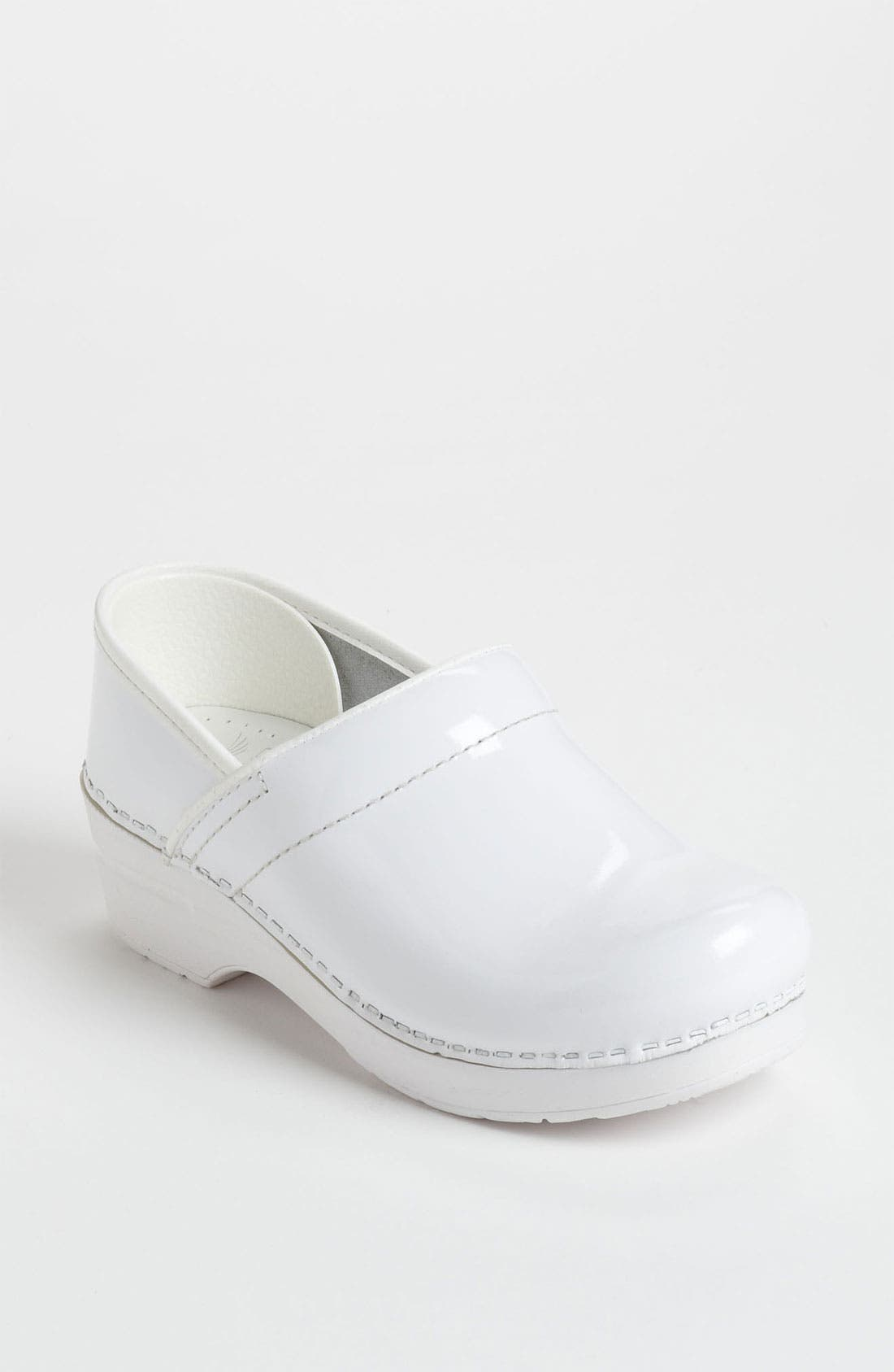 'Professional' Clog,                             Main thumbnail 1, color,                             White Patent