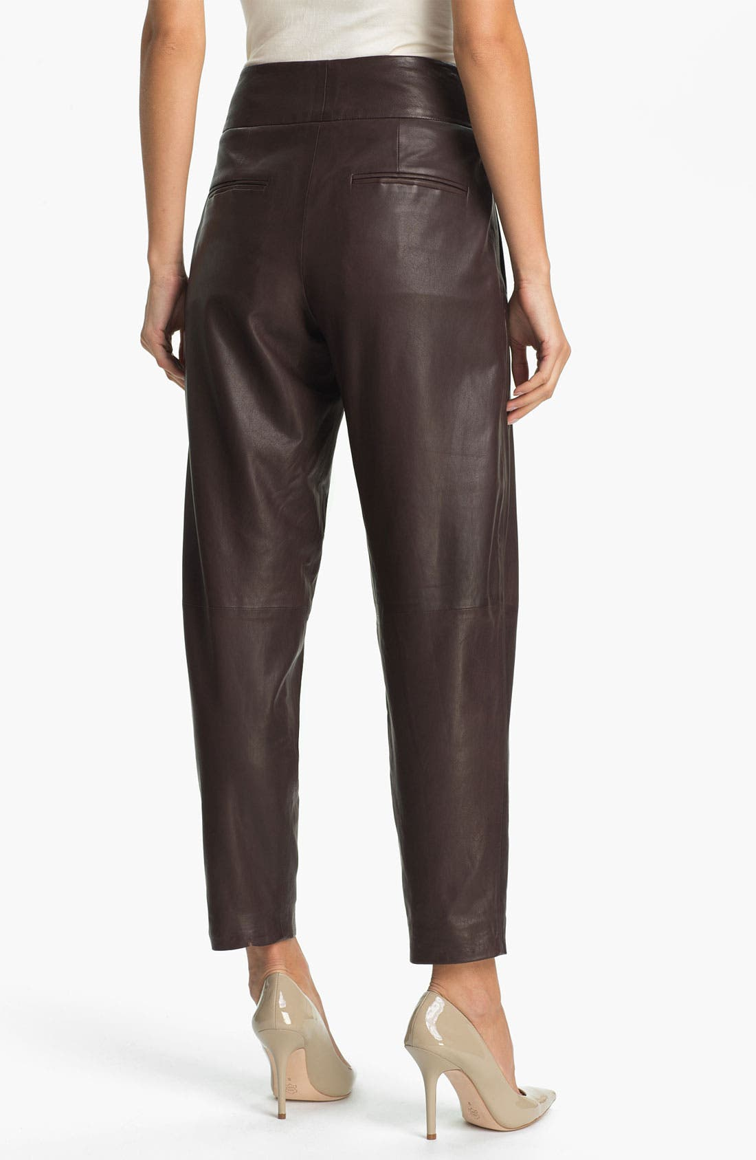 Alternate Image 2  - Theory 'Kina L.' Tapered Leather Pants