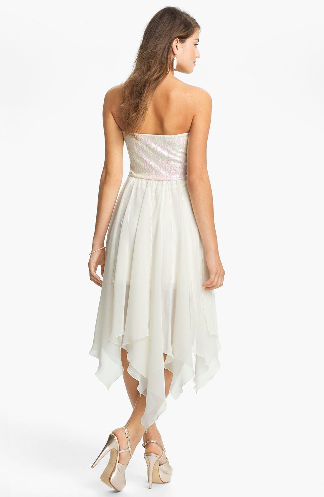 Alternate Image 2  - As U Wish Embellished High/Low Dress (Juniors)
