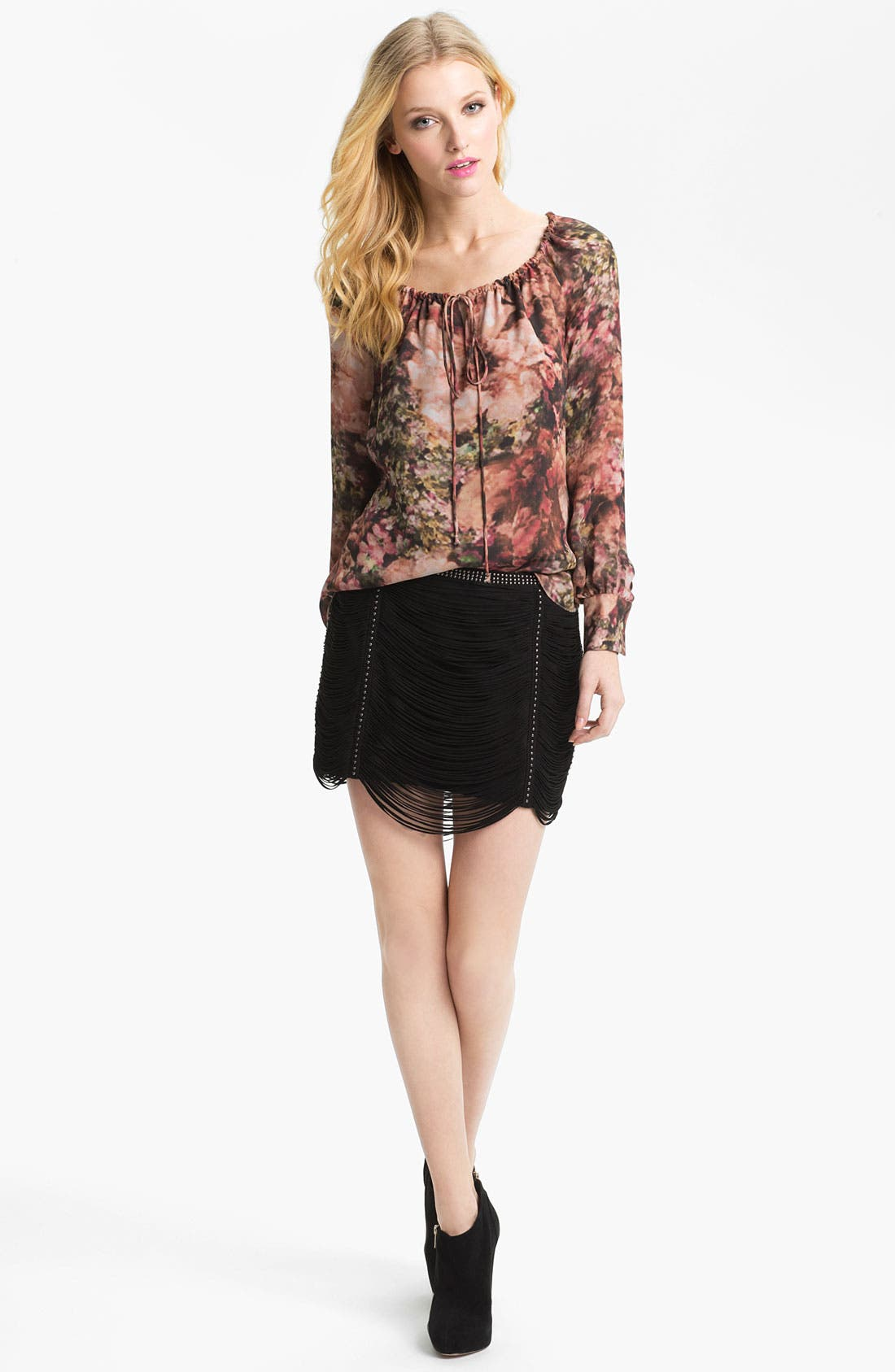 Alternate Image 4  - Haute Hippie Photo Floral Peasant Blouse