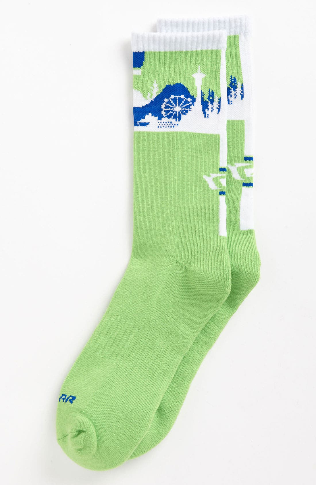 Alternate Image 1 Selected - G 206 Wear 'Seattle Skyline' Socks (Big Kid)