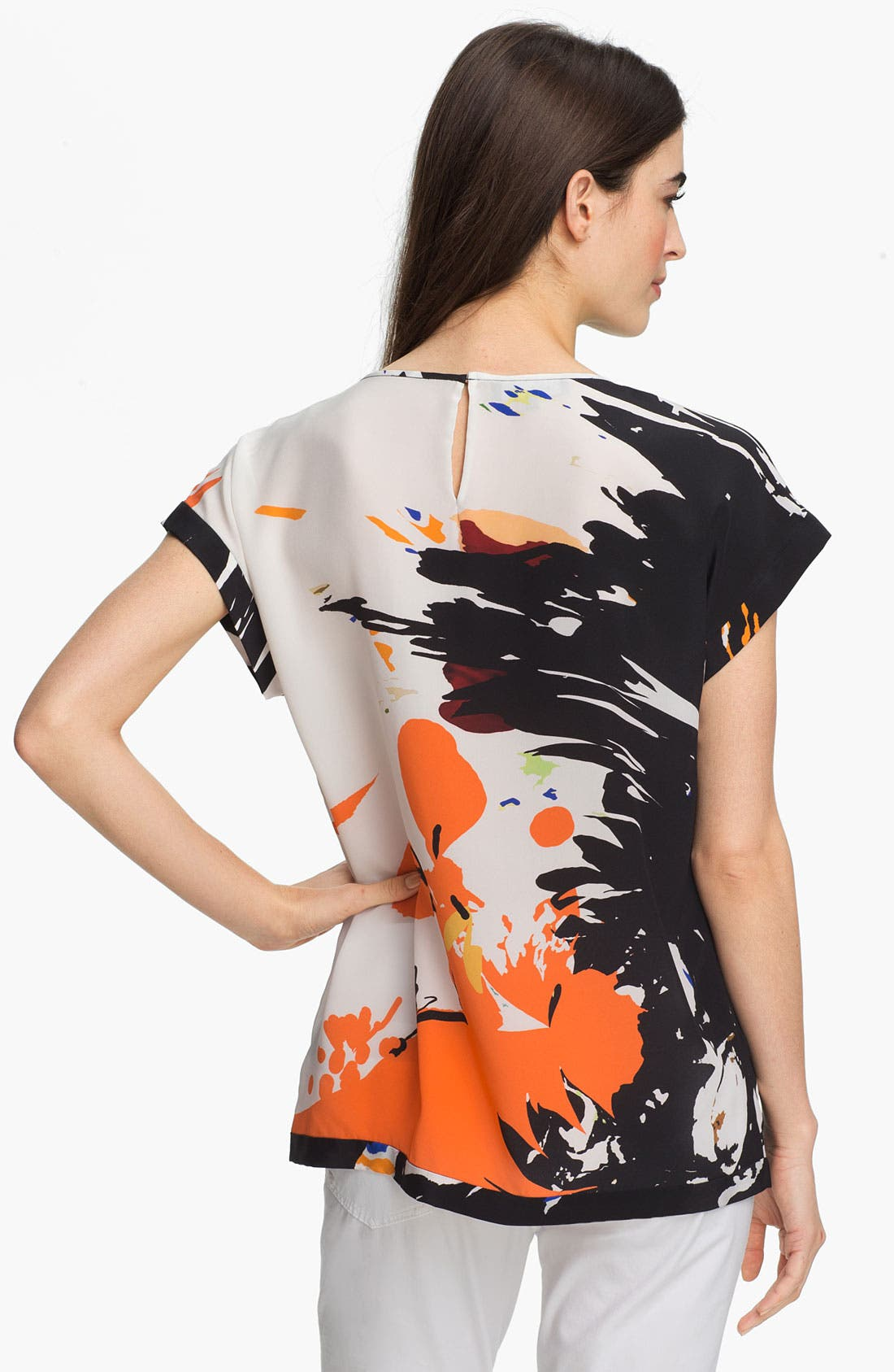 Alternate Image 2  - Lafayette 148 New York 'Prima Floral Donna' Silk Top