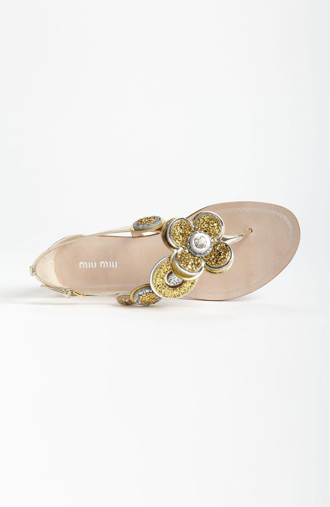 Alternate Image 3  - Miu Miu Flower Thong Sandal