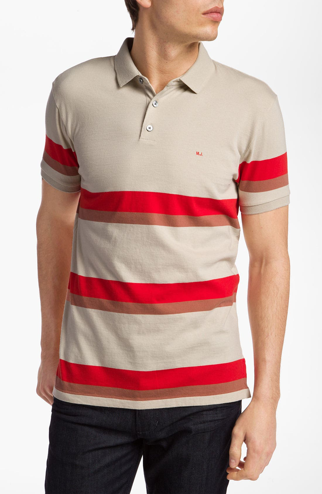 Alternate Image 1 Selected - MARC BY MARC JACOBS 'Elliott' Stripe Print Polo