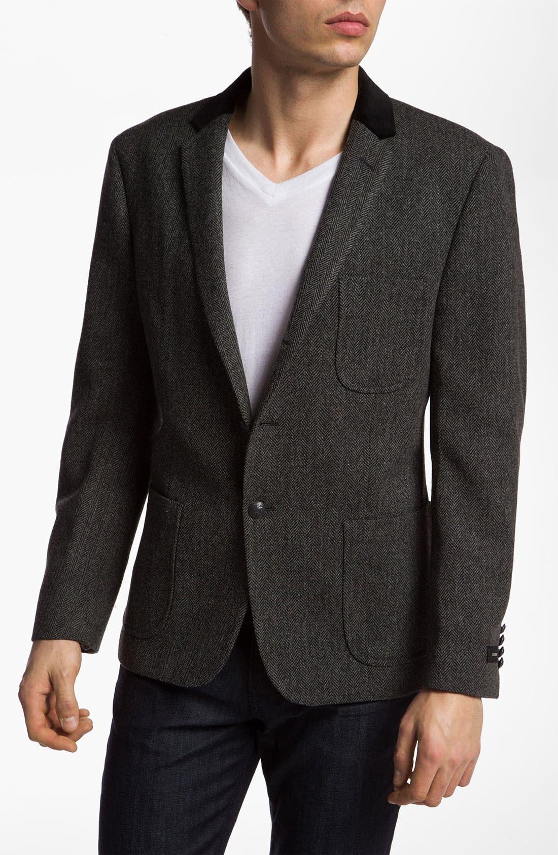 Main Image - Dockers® Herringbone Wool Blazer