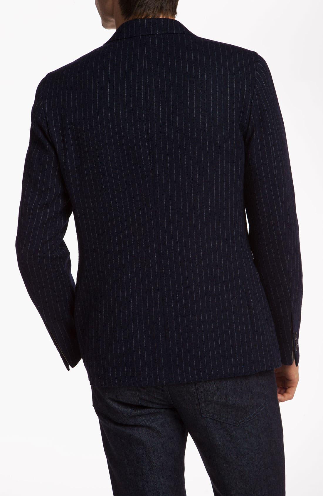 Alternate Image 2  - Gant Rugger One Button Pinstripe Blazer
