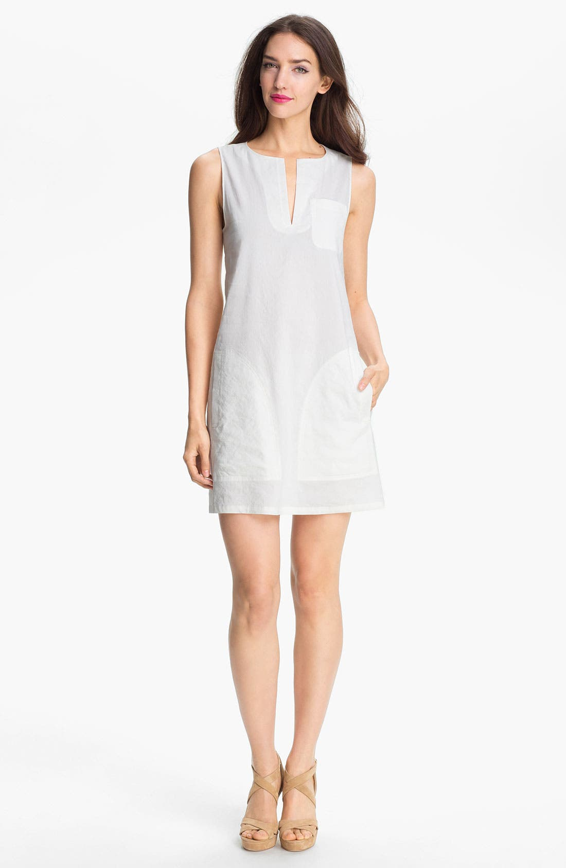 Alternate Image 1 Selected - Theory 'Wandu' Linen Blend Shift Dress