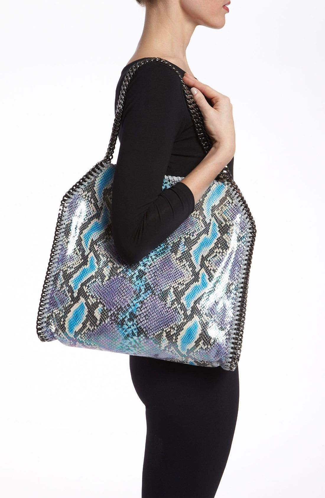 Alternate Image 2  - Stella McCartney 'Falabella - Small' Oleographic Faux Python Tote