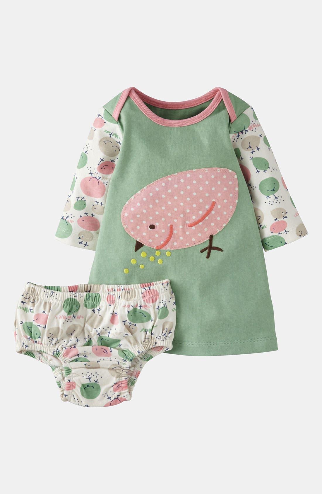 Alternate Image 1 Selected - Mini Boden Appliqué Dress (Baby)