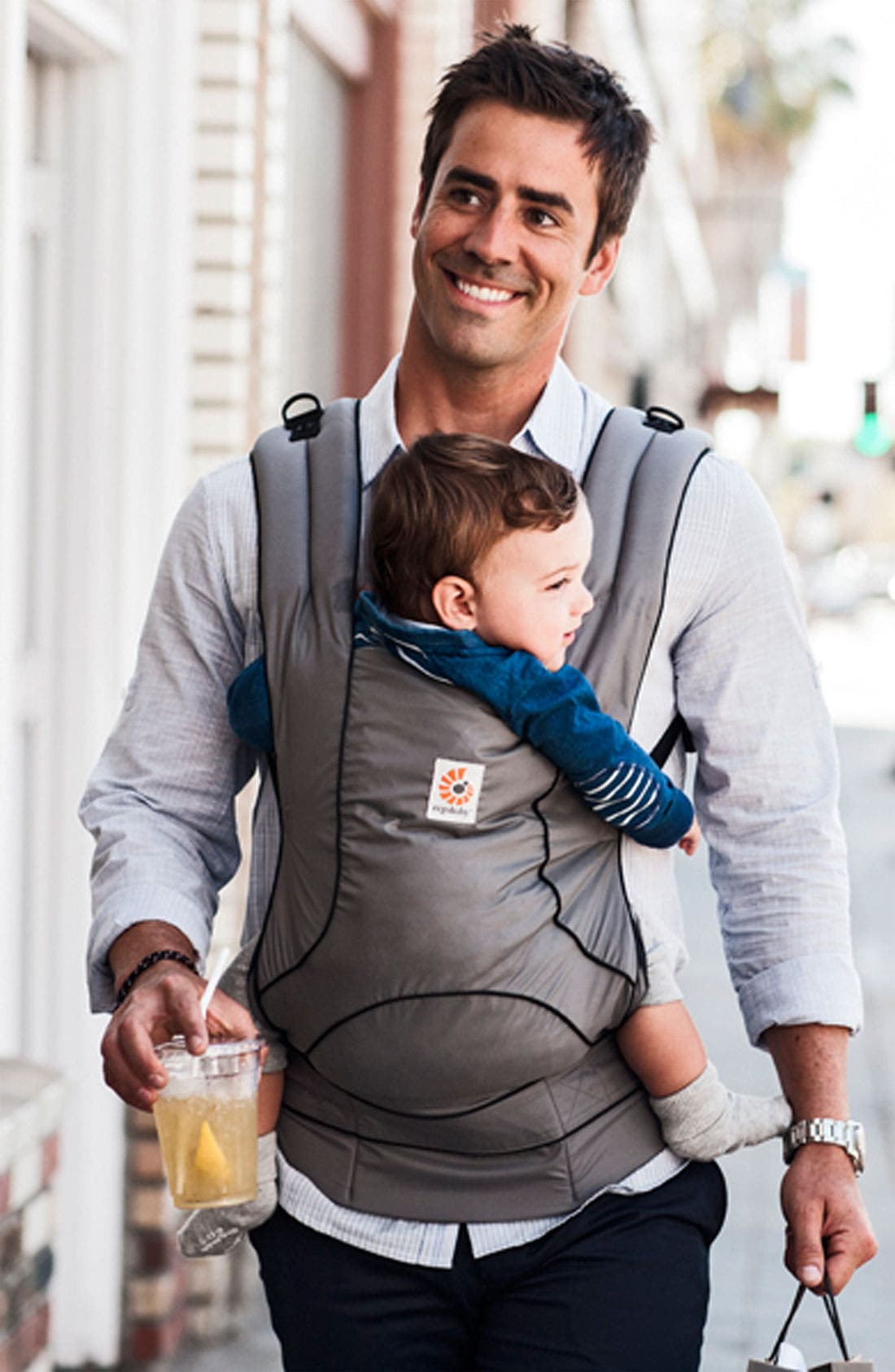 Alternate Image 2  - ERGObaby 'Urban Chic' Baby Carrier