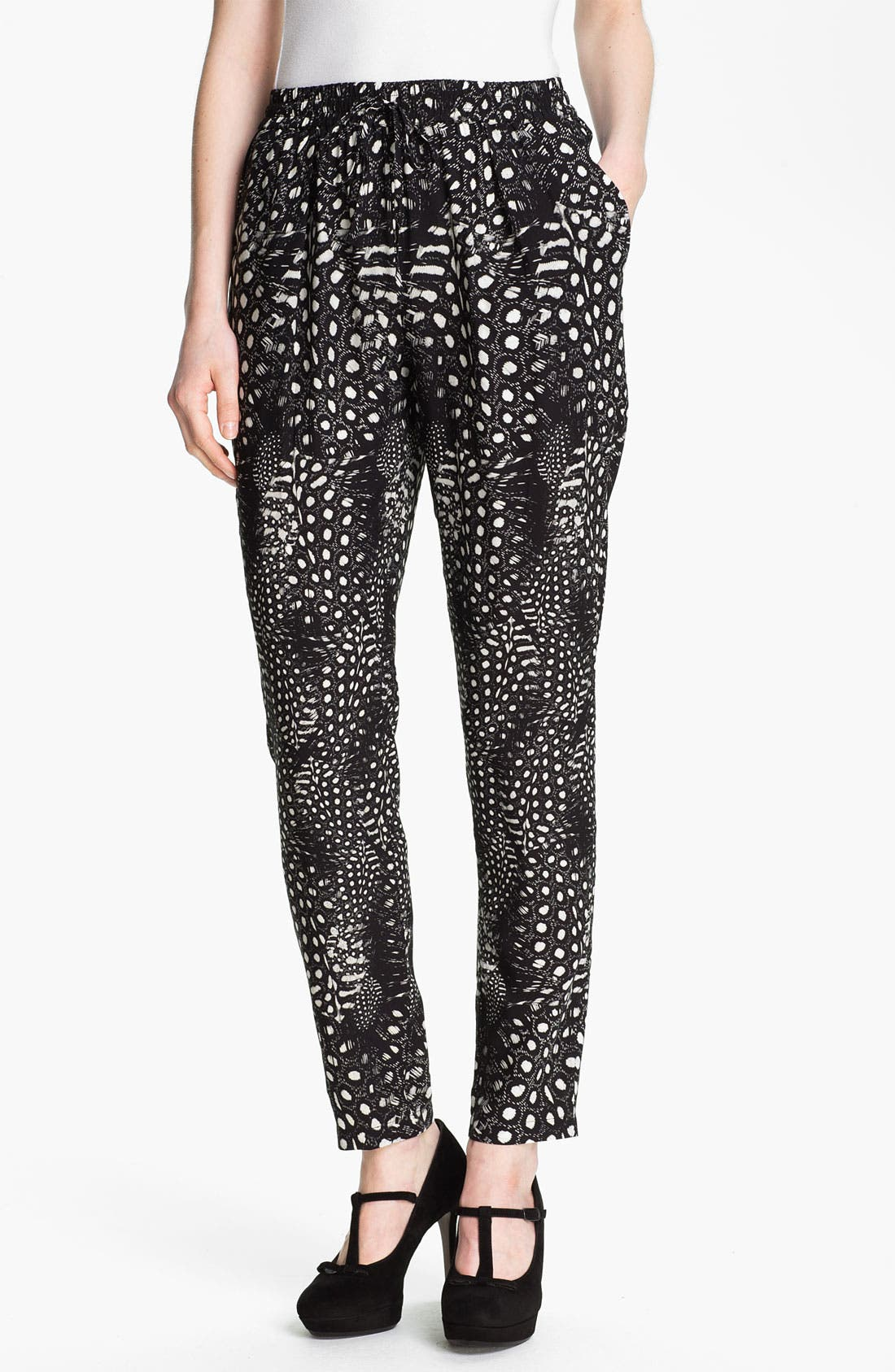 Main Image - Cut25 Feather & Dot Print Pants