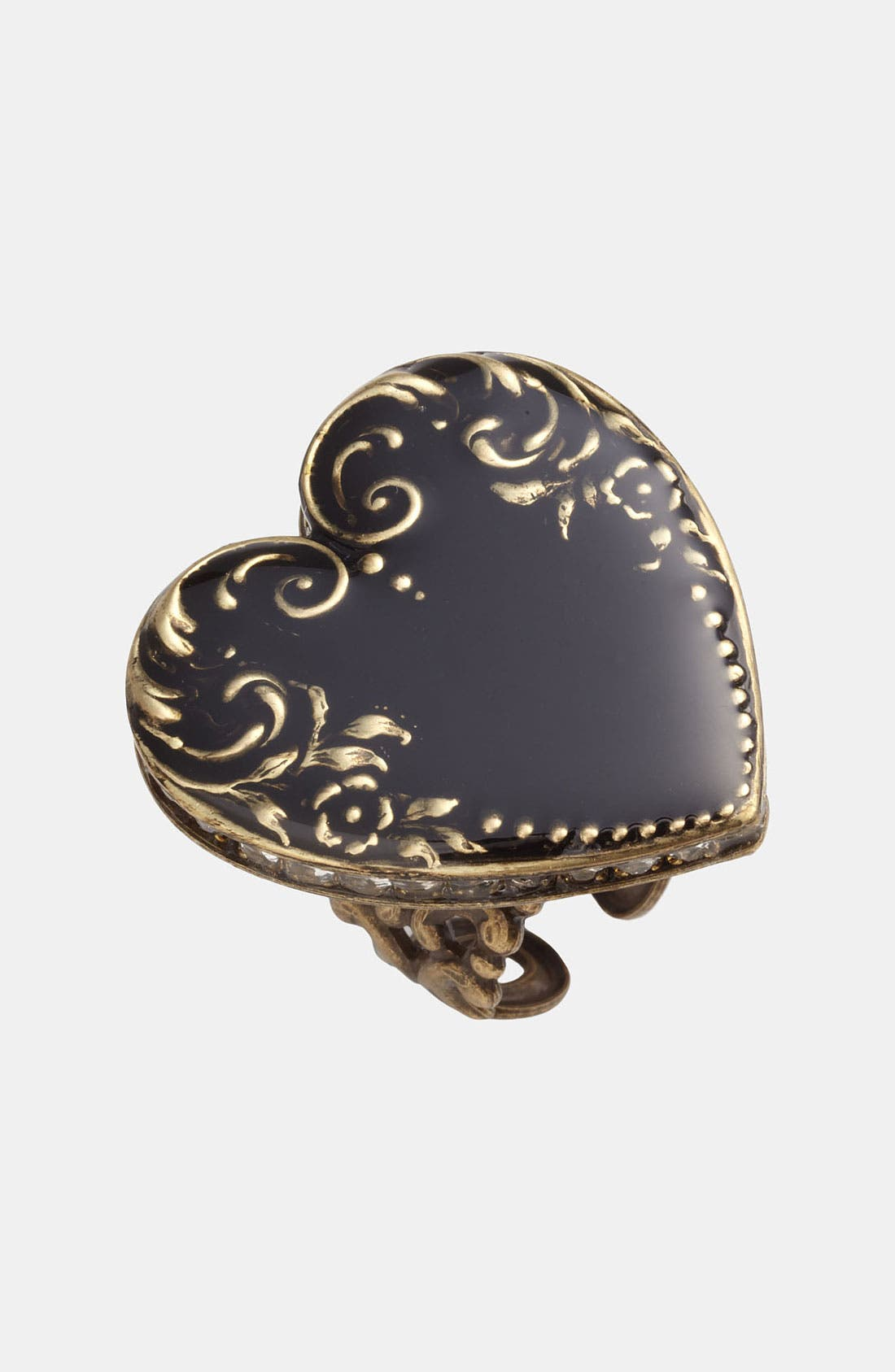 Black Heart Ring,                         Main,                         color, Black